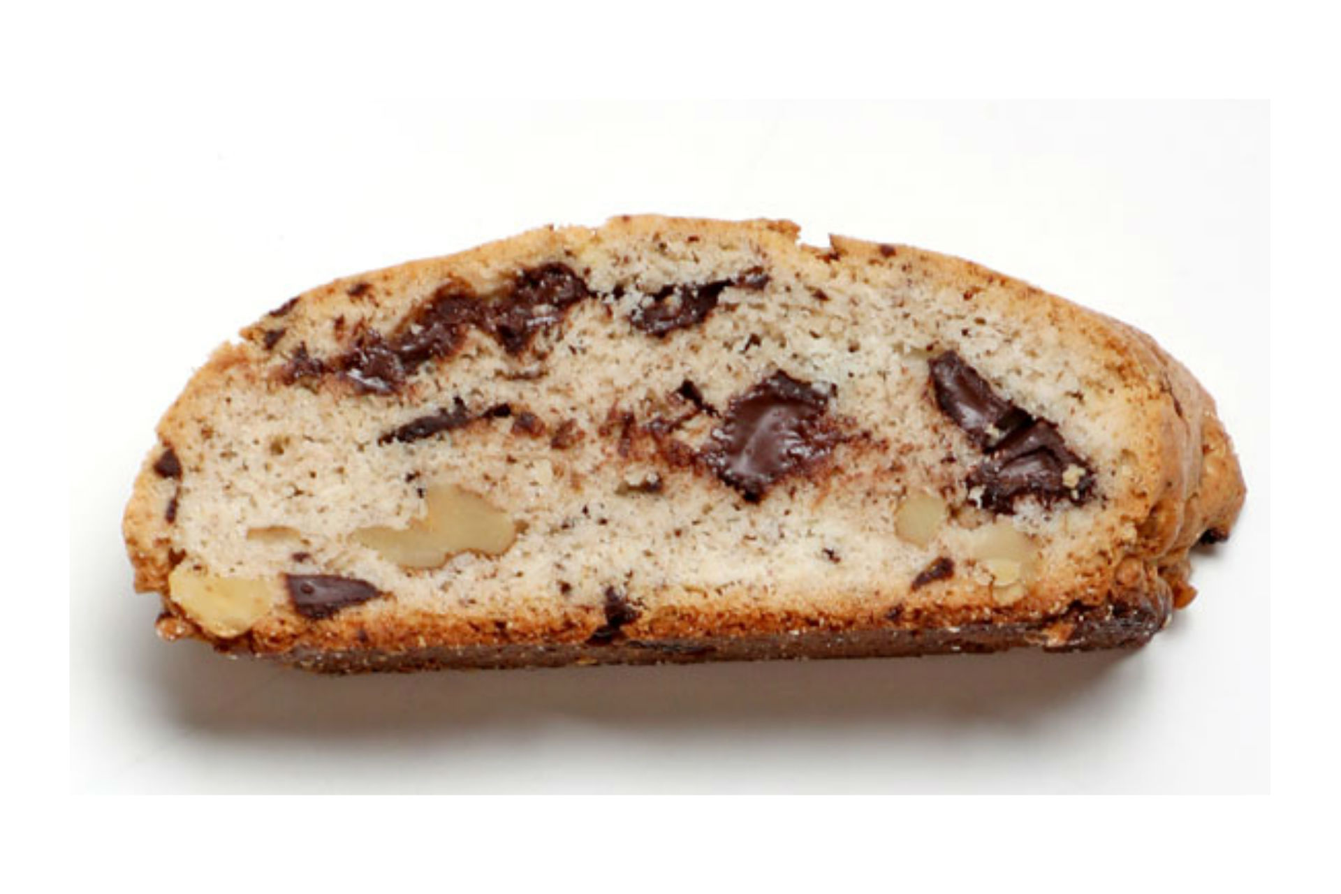 biscotti with chocolate and nuts