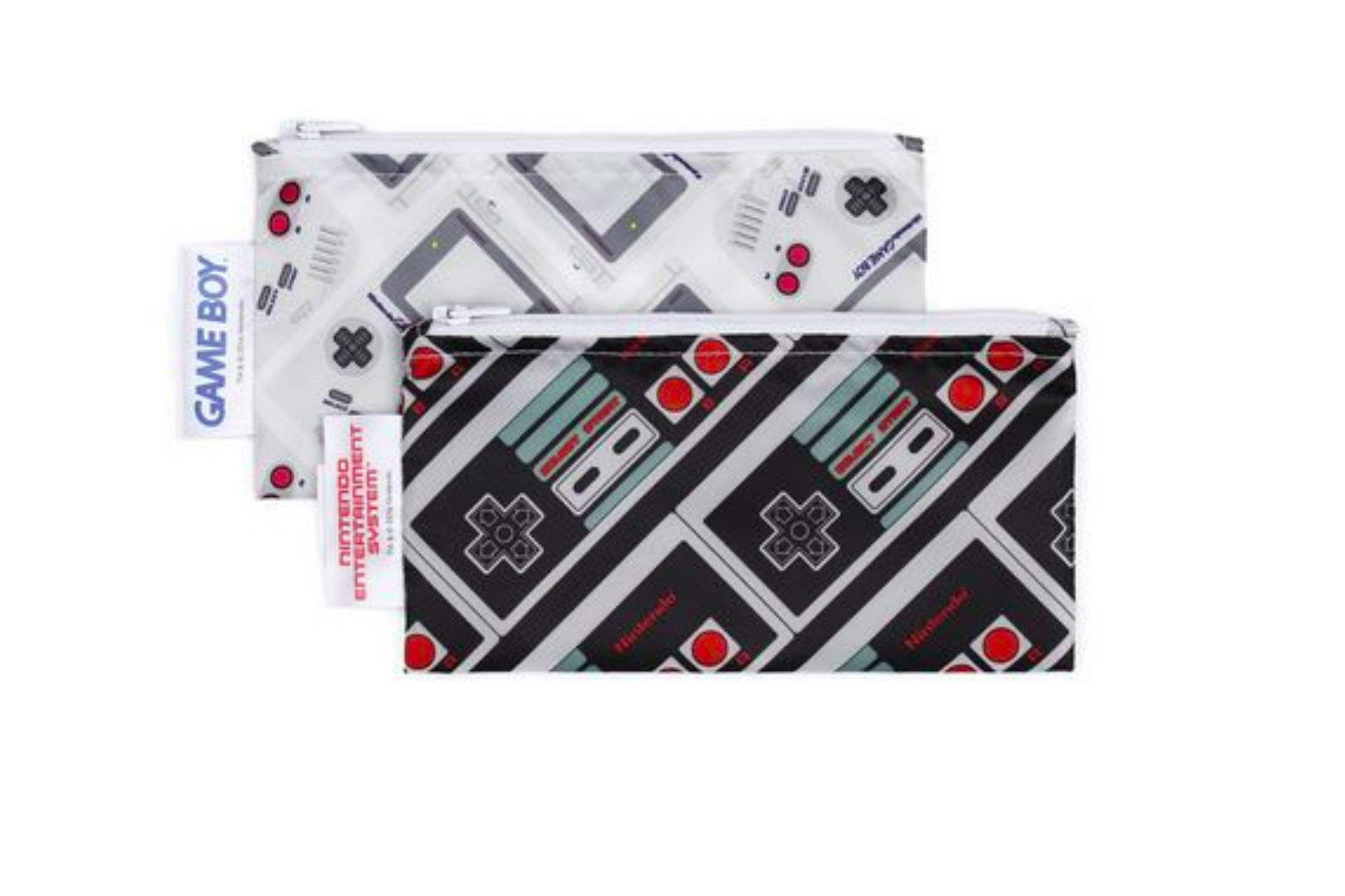 cloth snack bags in nintendo pattern