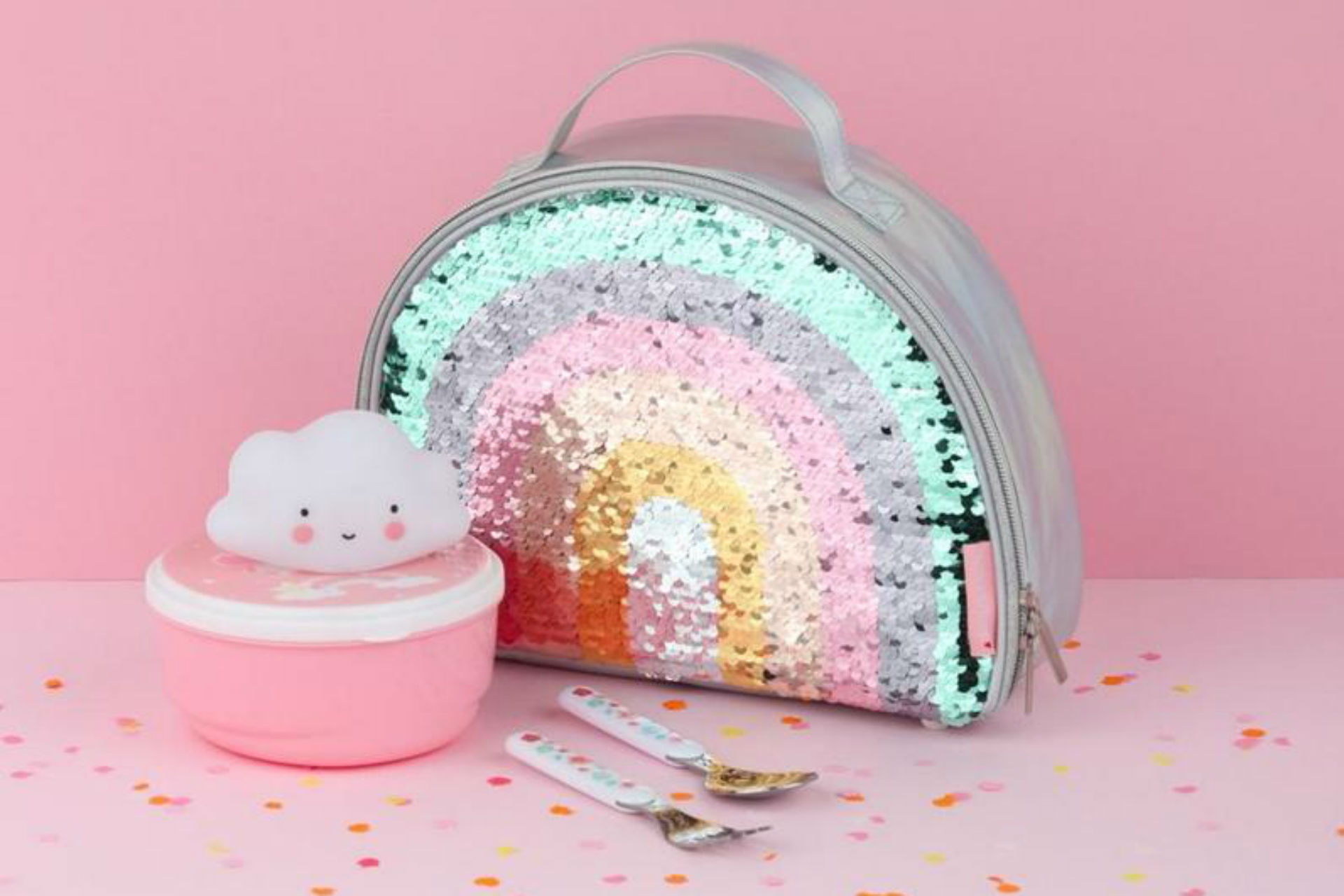 rainbow sequin backpack