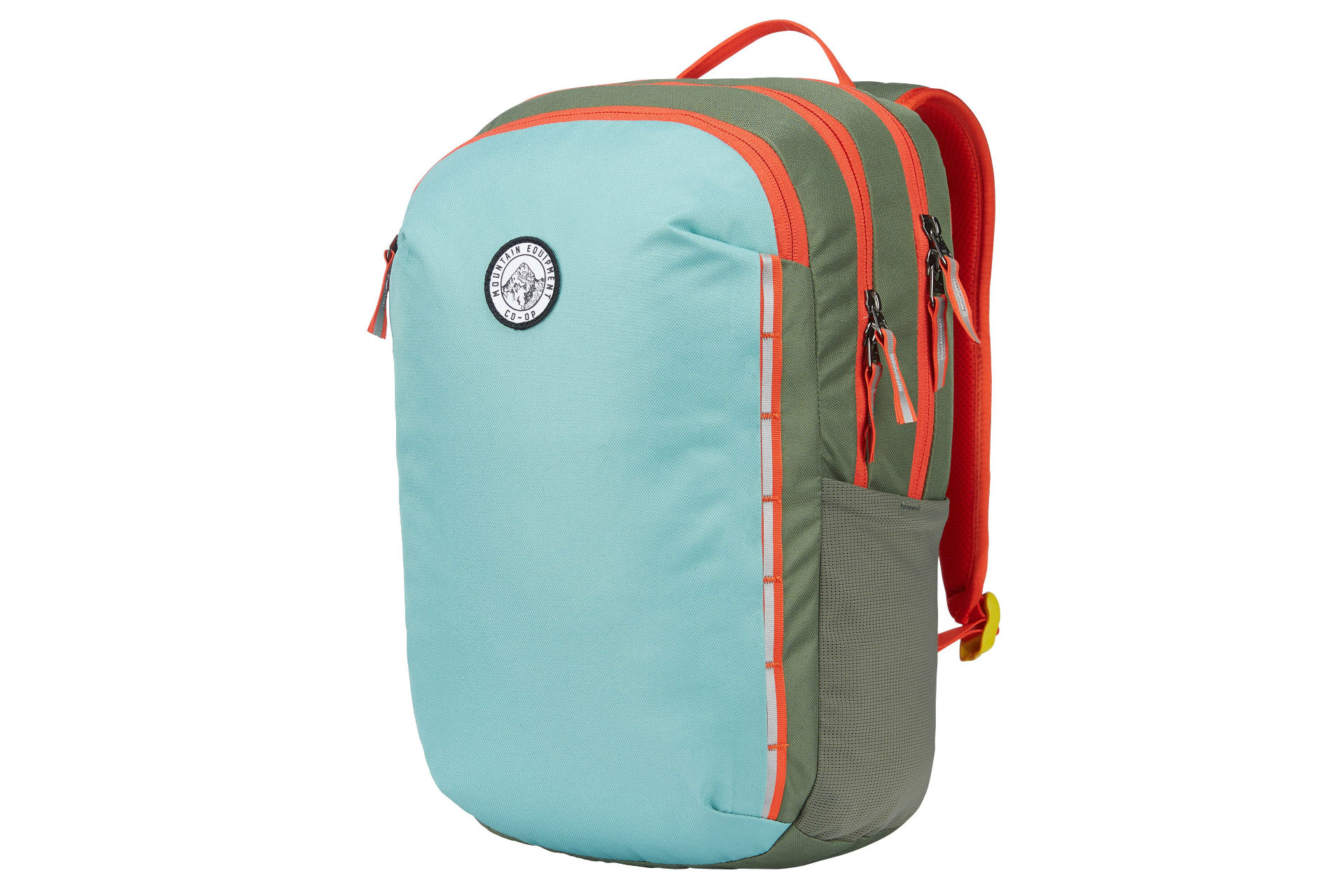blue and green compact backpack