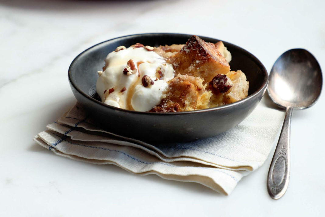 french toast casserole in a dish