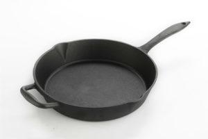 Lagostina black cast iron frying pan