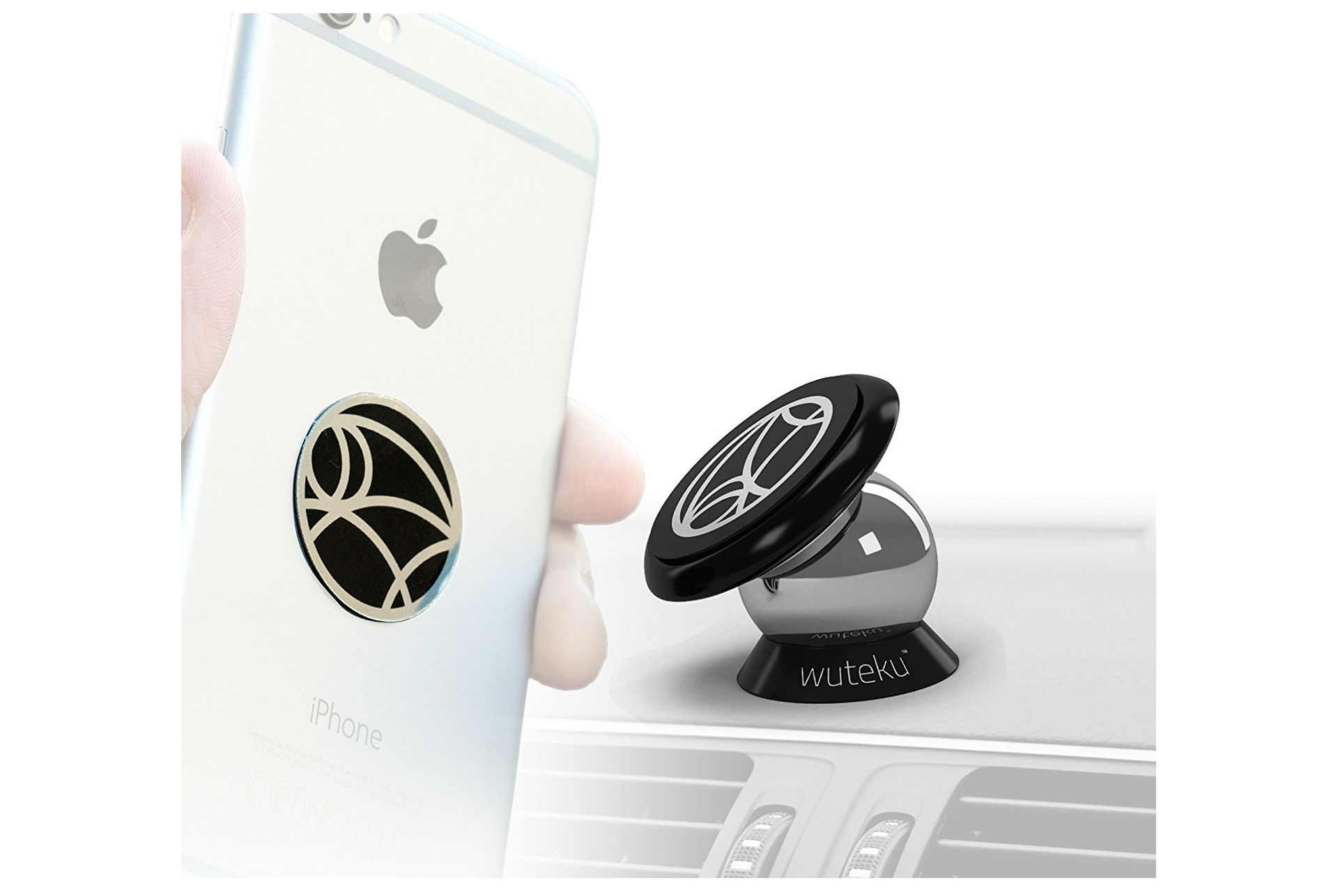 Wuteku magnetic cell phone holder for car