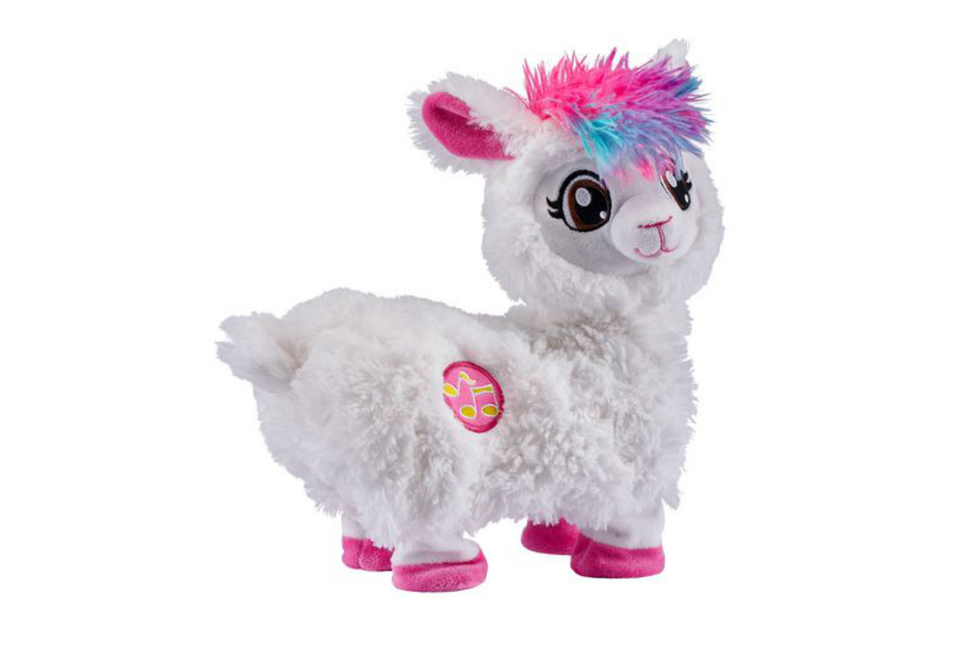 toy llama with colourful hair