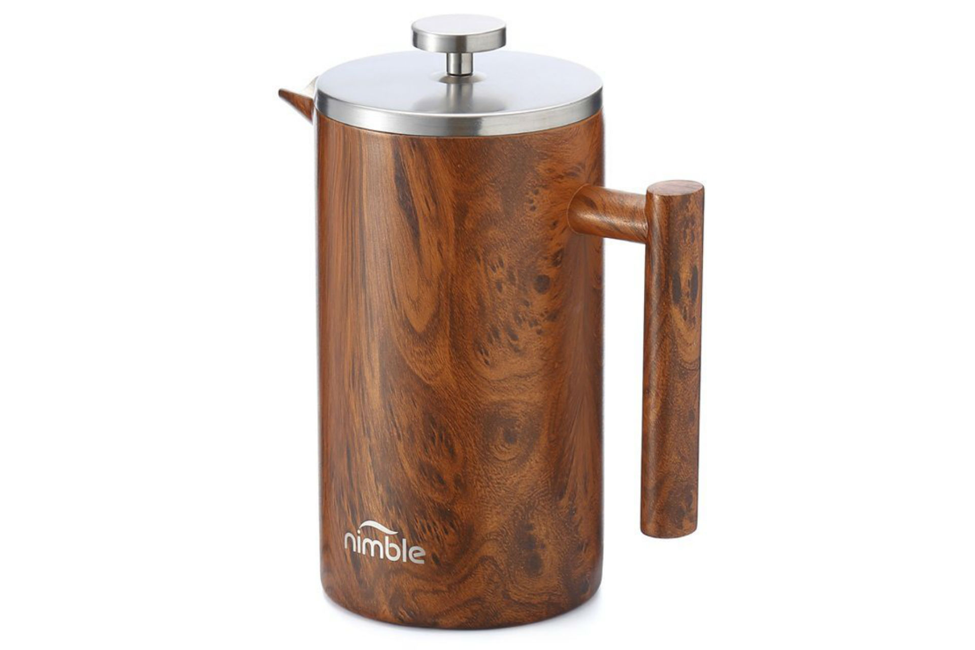 Nimble double-walled French press