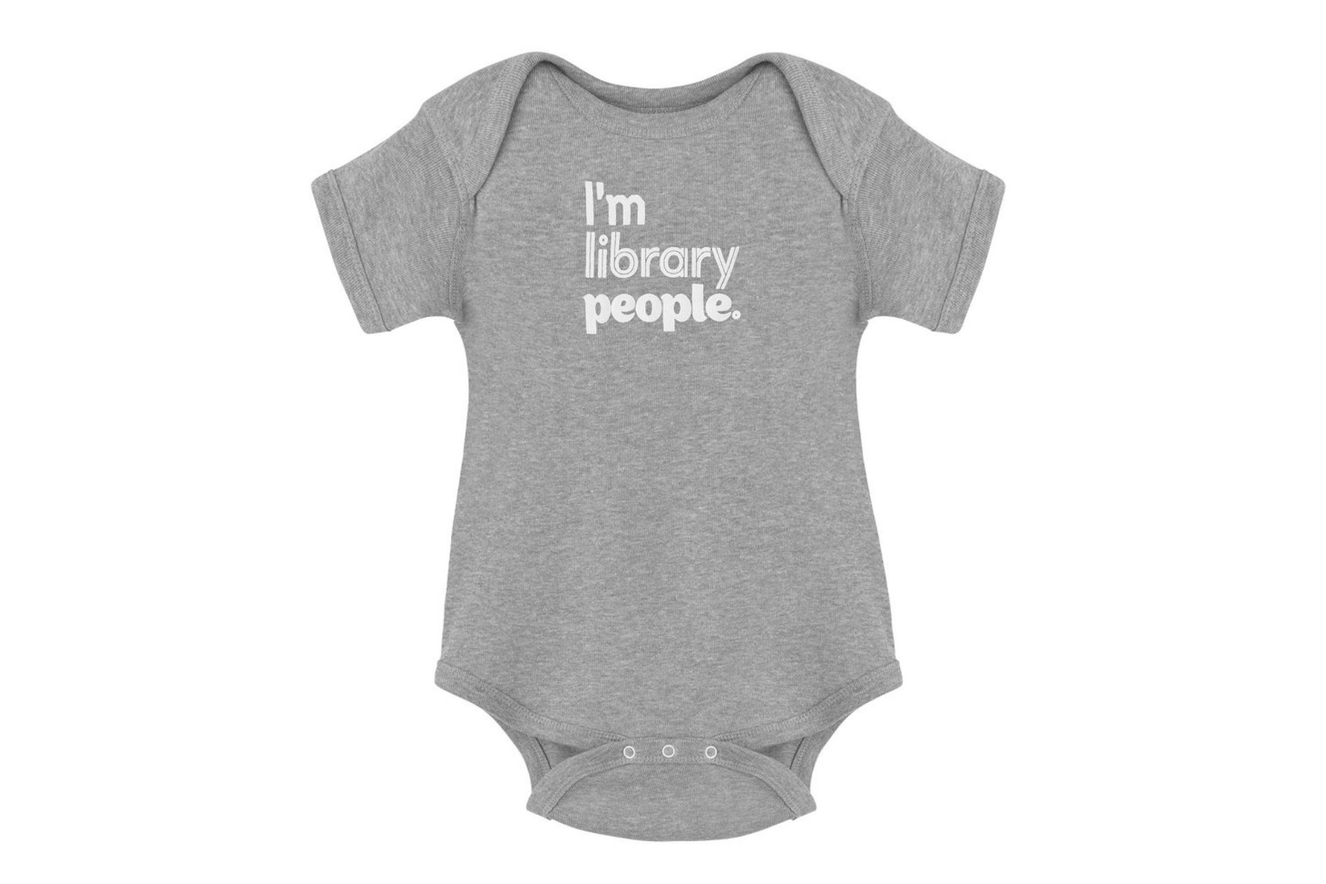 Toronto Public Library Foundation I'm Library People baby onesie