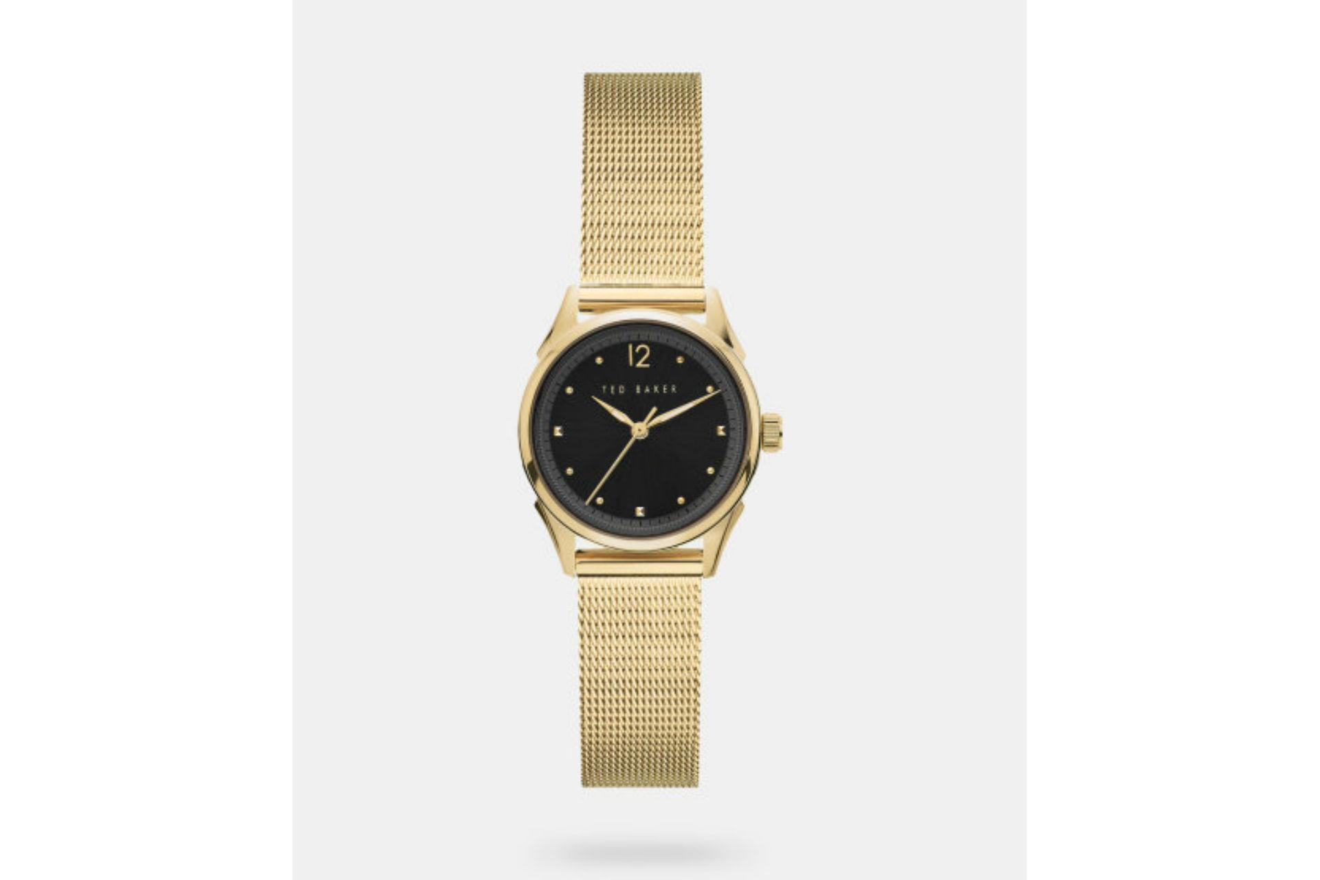 LUCHIAA Milanese mesh strap watch