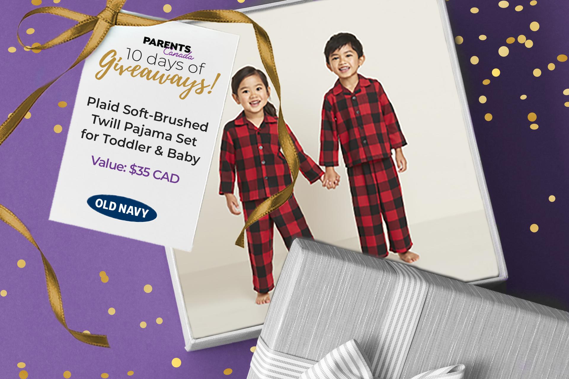 kids in plaid pyjamas