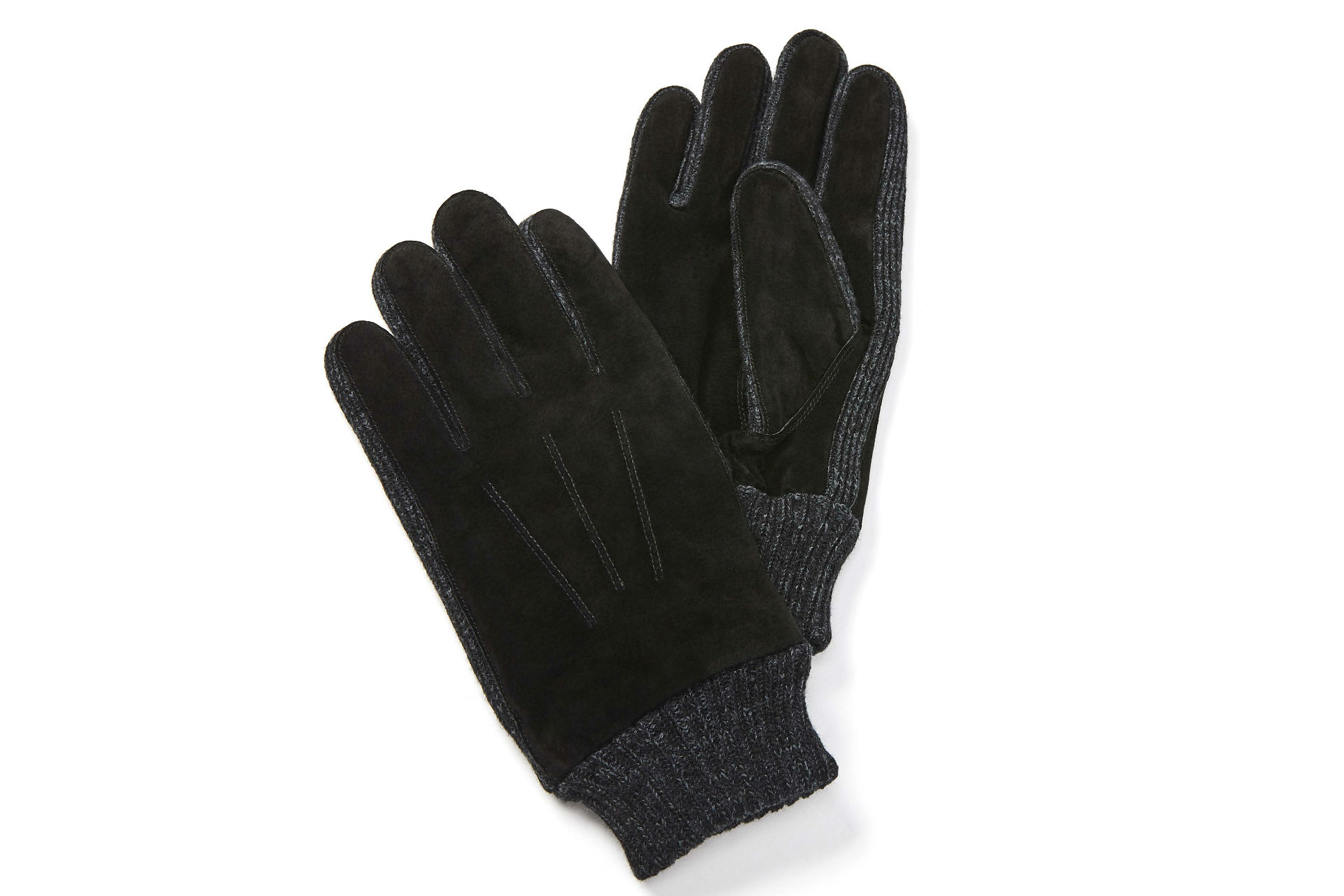 pair of suede gloves