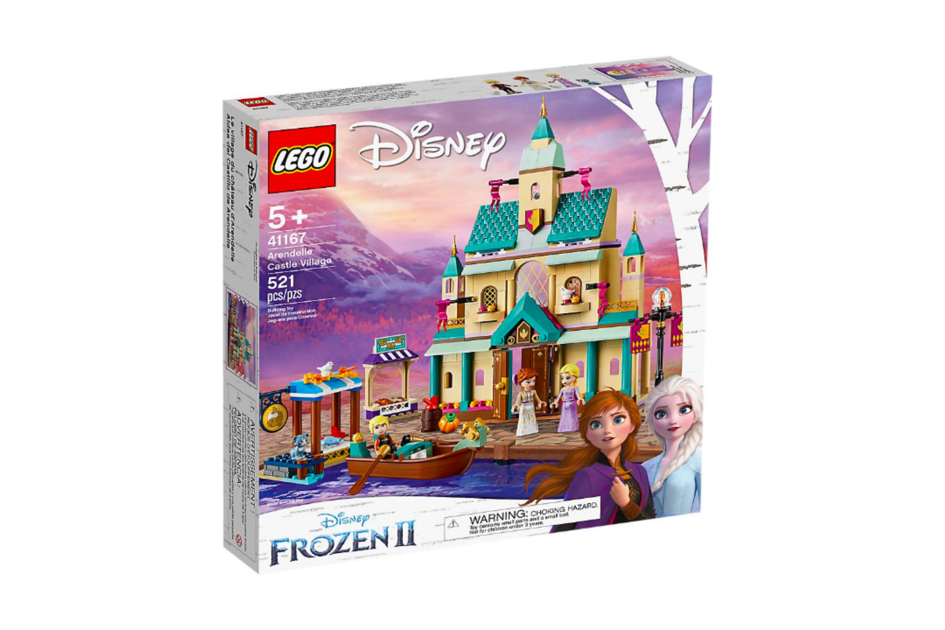 box of Frozen-themed lego