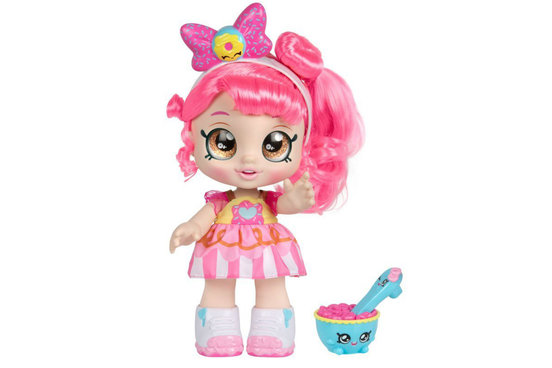 doll with pink hair and accessories
