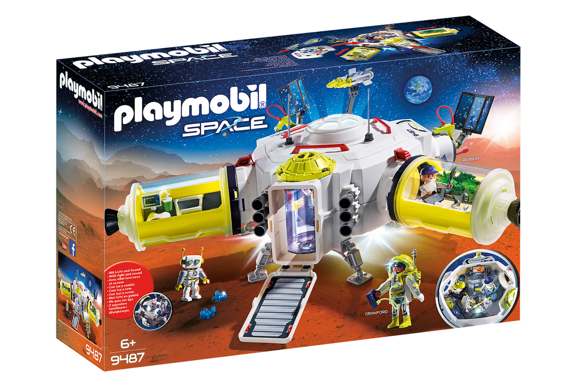 box of imaginary play set that is Mars-themed