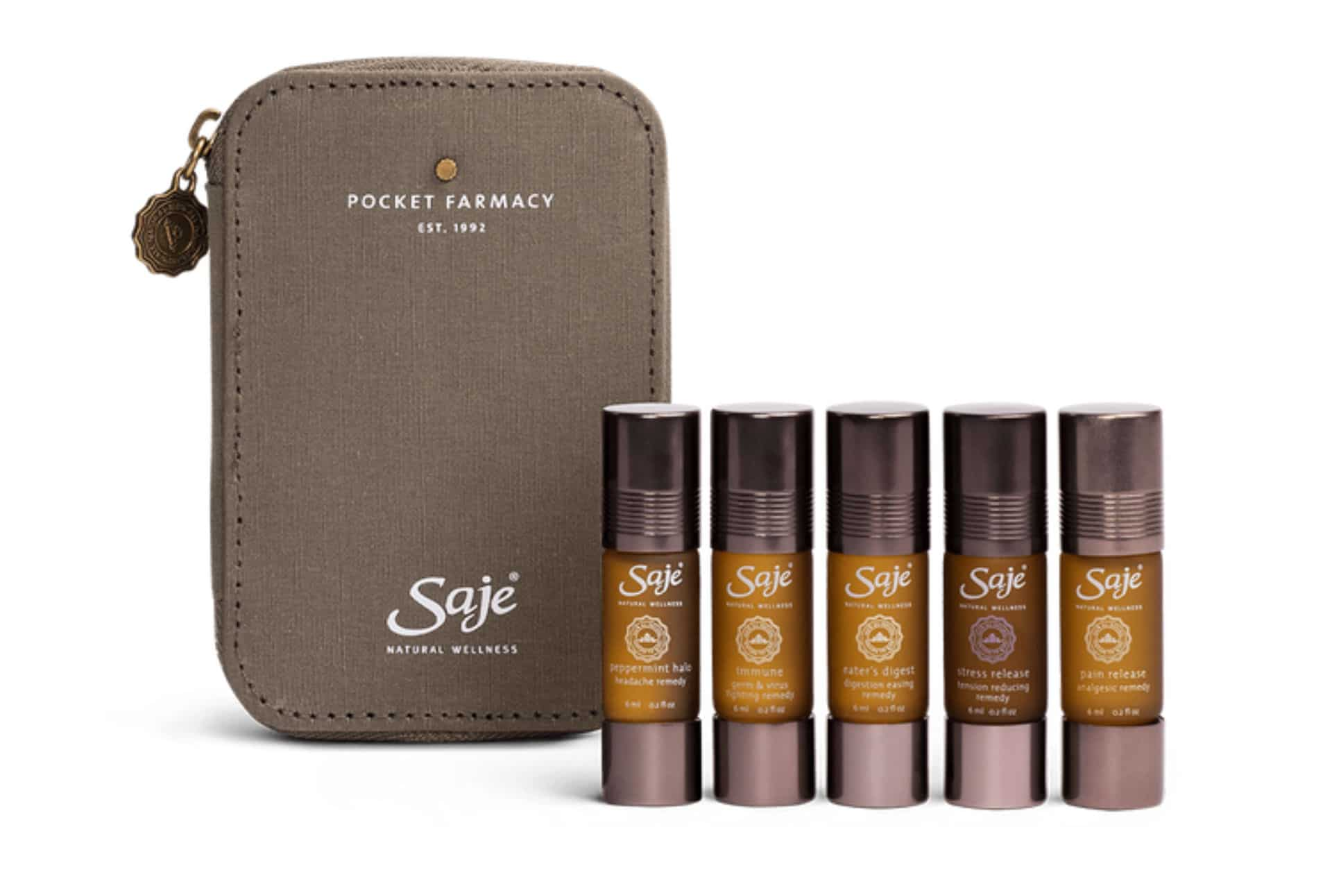 package of saje essential oils