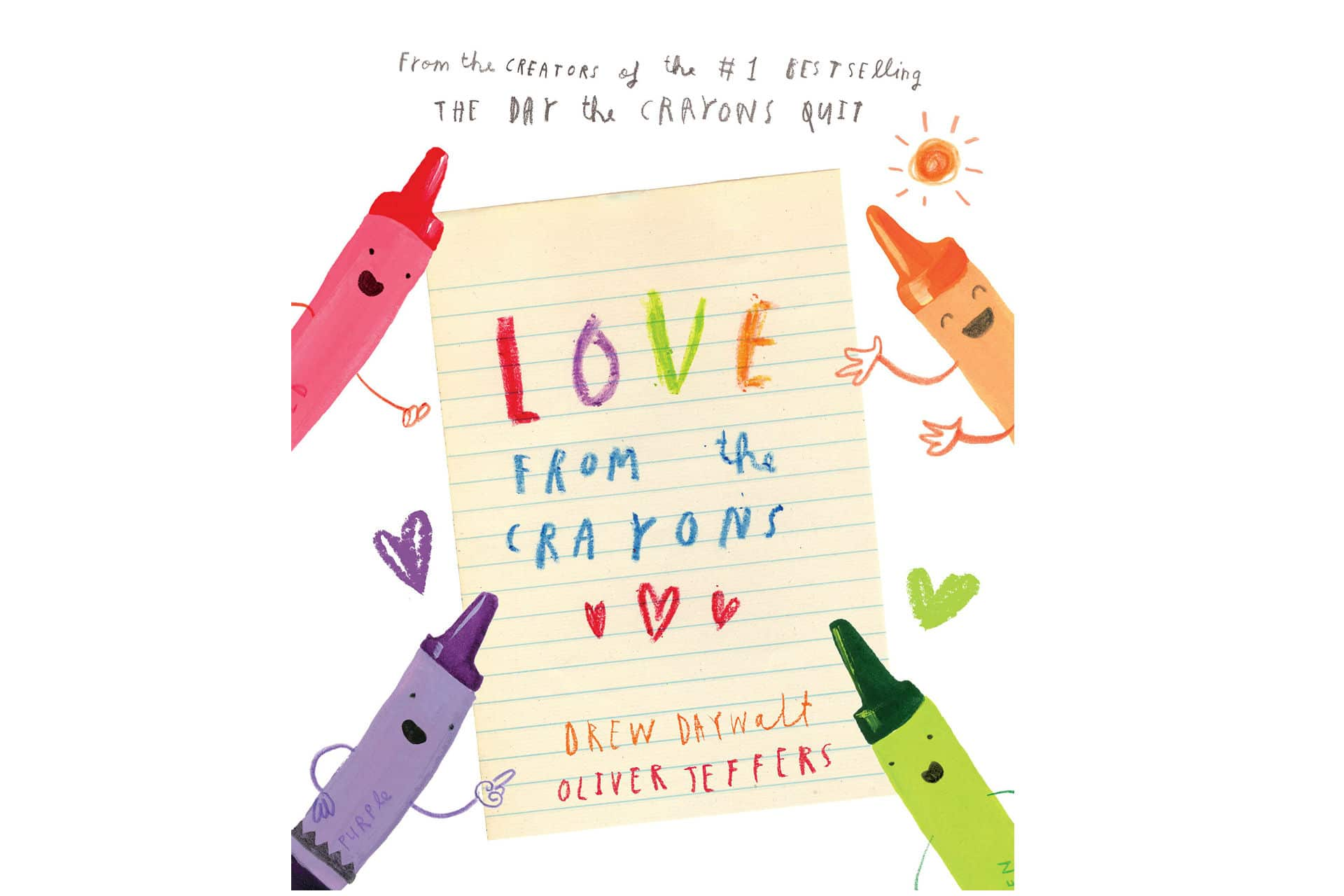 kids' book called Love from the Crayons