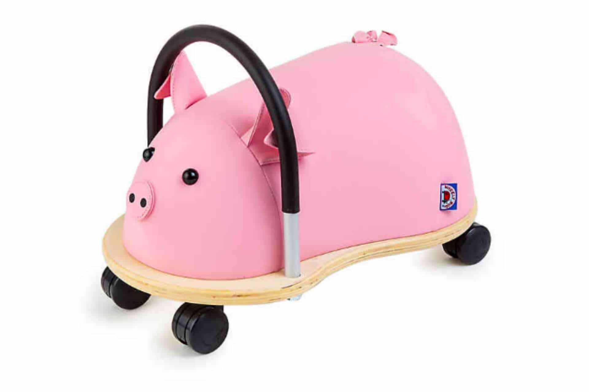 pink pig ride-on toy