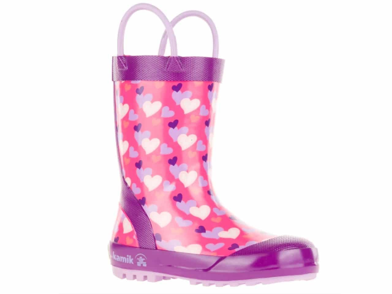 pink rainboots with hearts