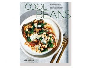 Cookbook called Cool Beans with beans on toast on the cover
