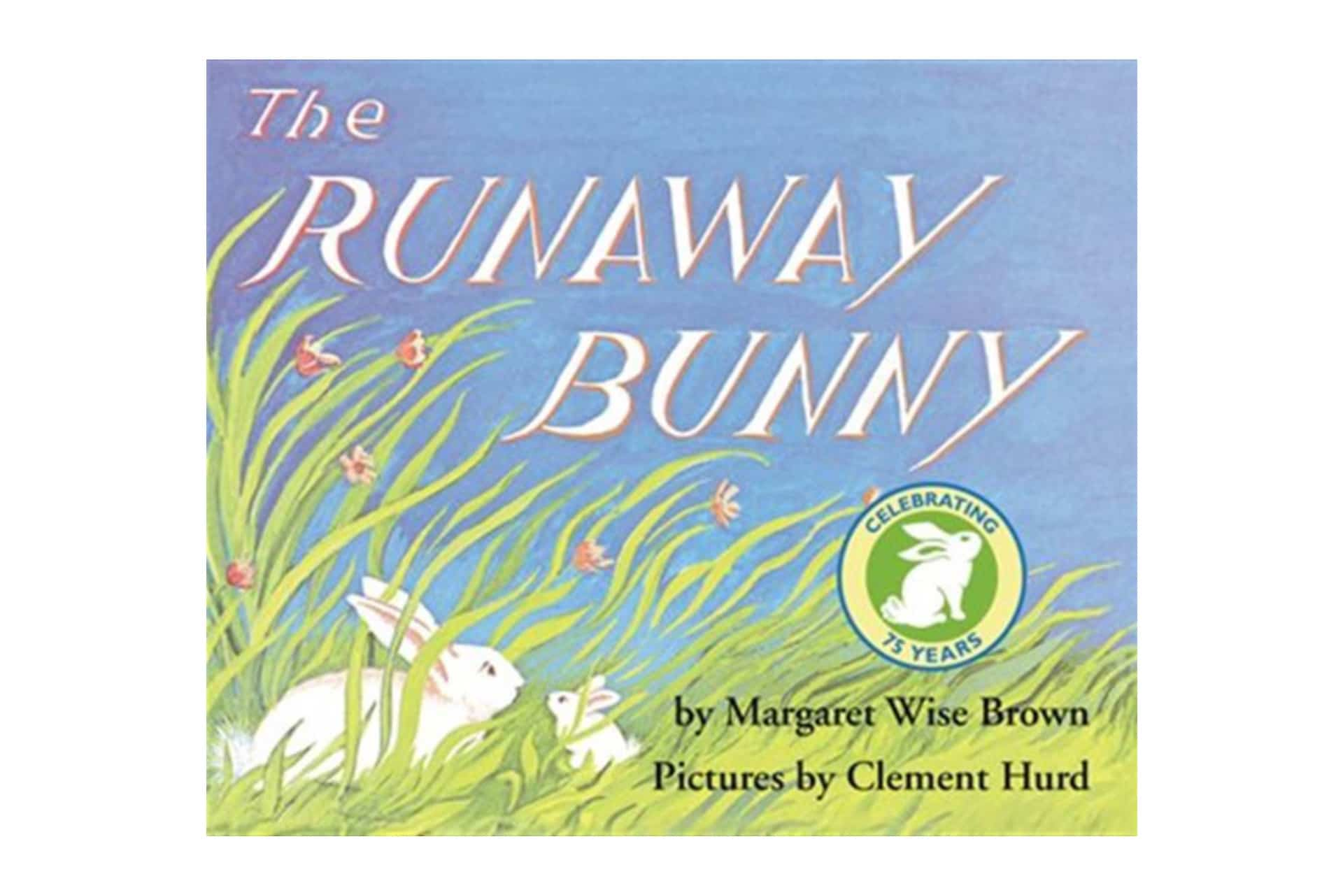 Book cover of two bunnies in the grass