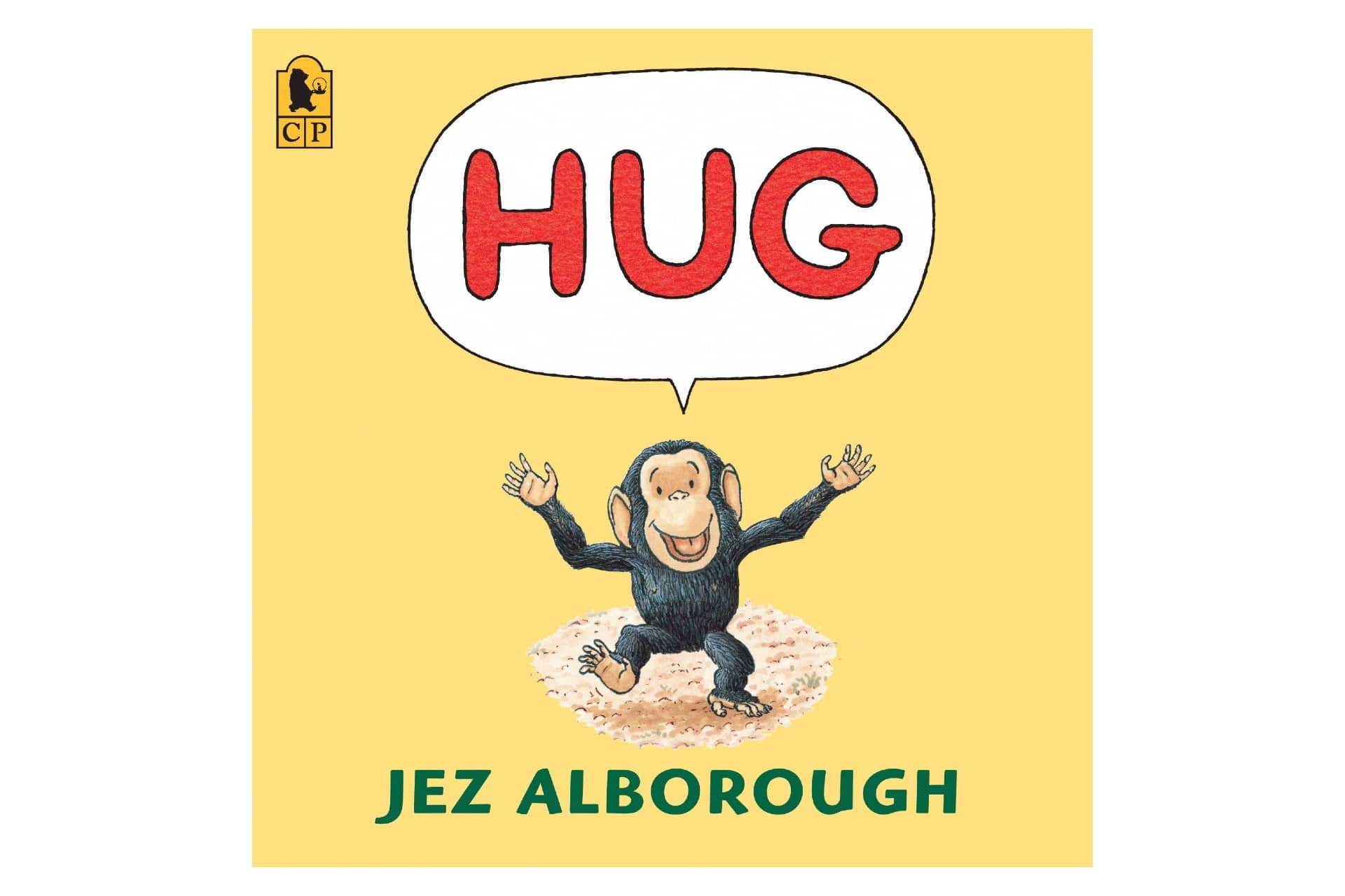 Yellow book with a monkey saying