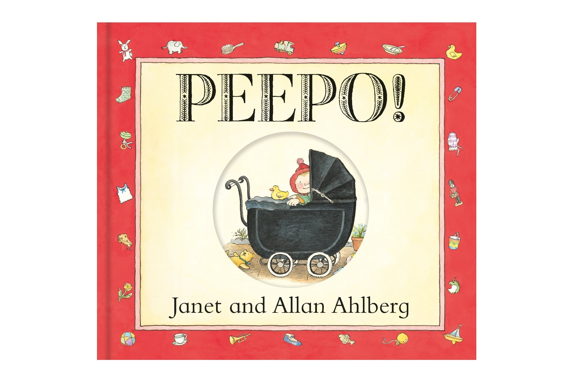 book cover with a baby in a carriage