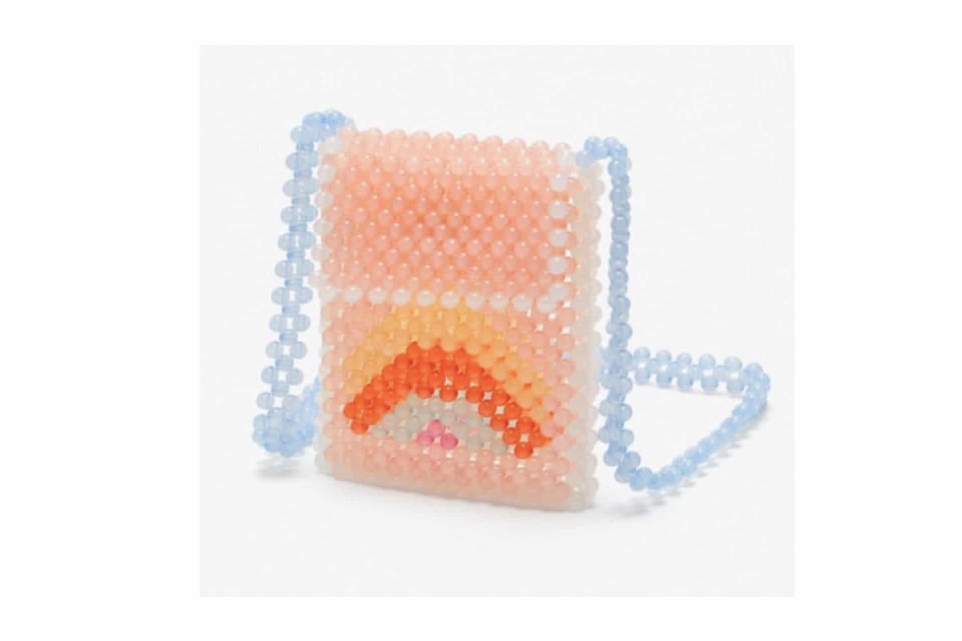 colourful beaded purse