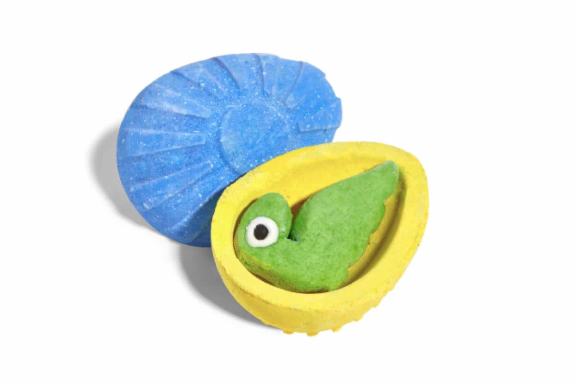 dino egg-shaped bath bomb