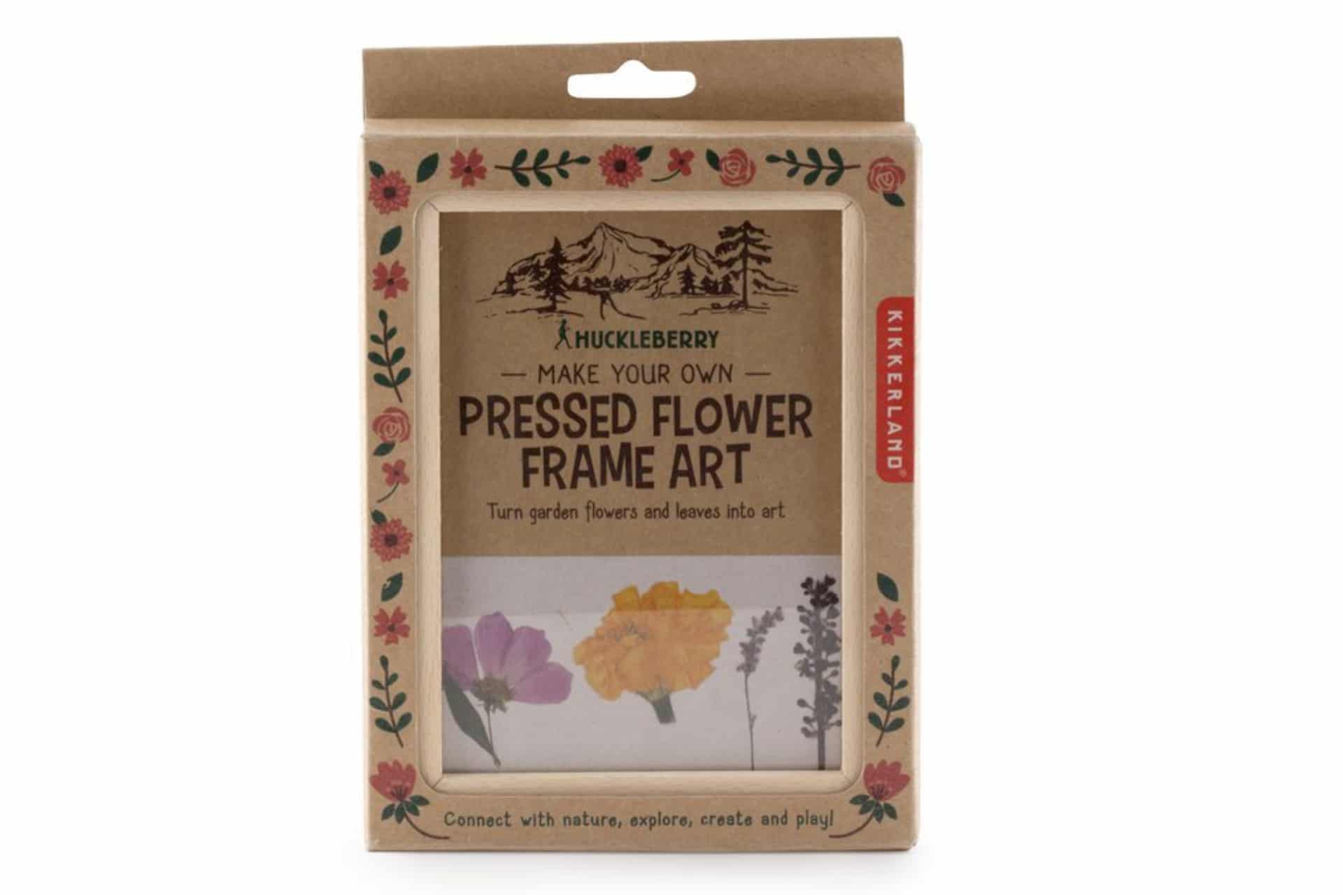 craft kit with frame for pressed flowers