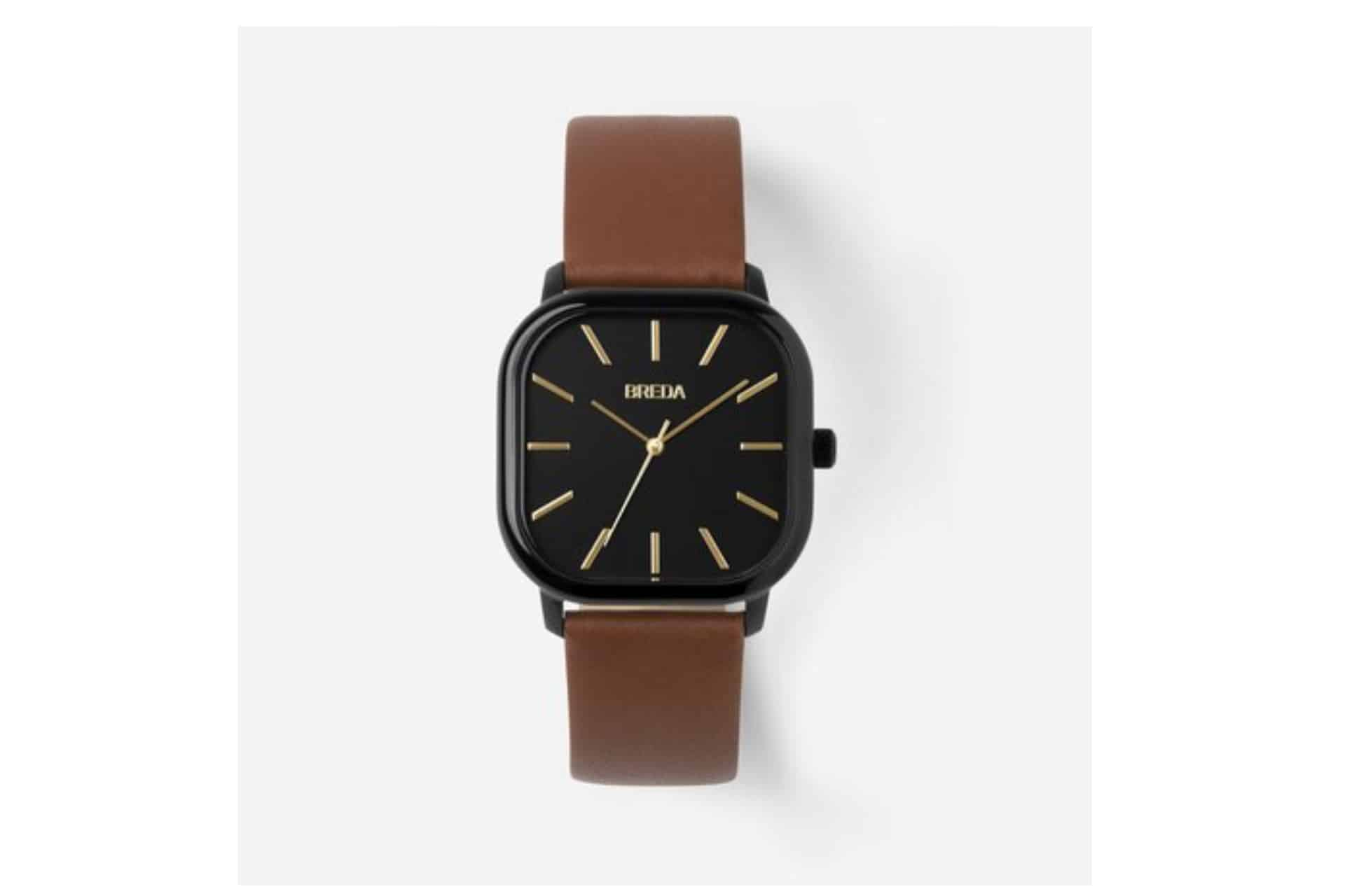 breda watch with brown strap
