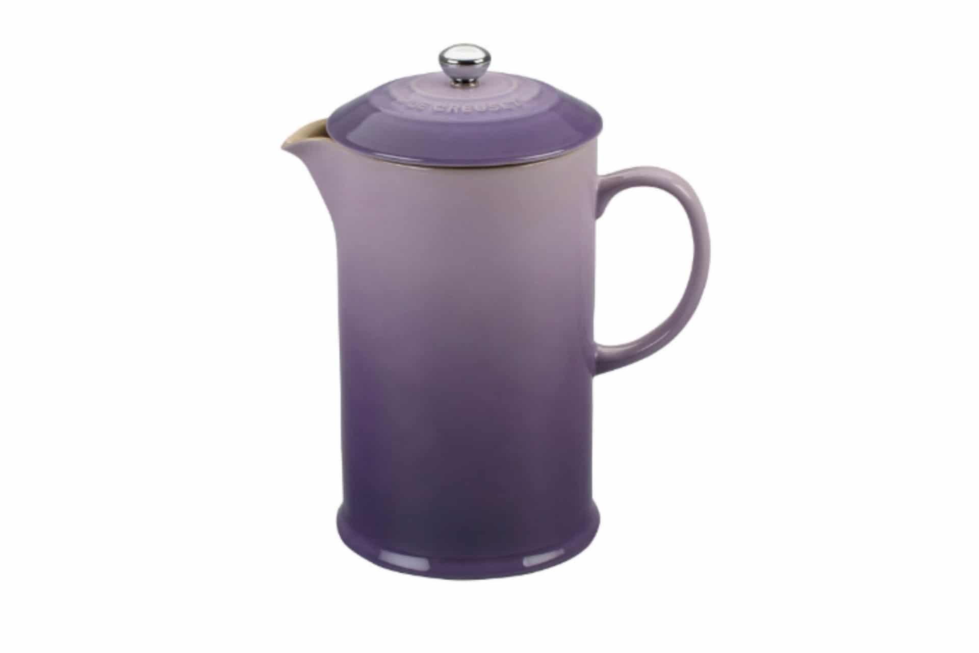 purple ceramic french press