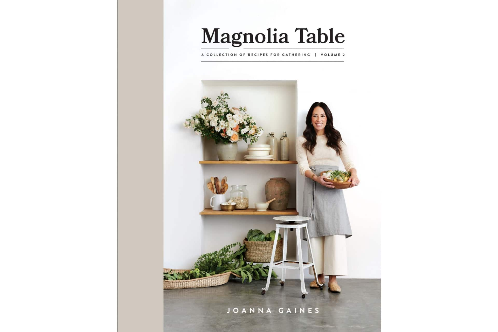 Magnolia Table cookbook with Joanna Gaines on the cover