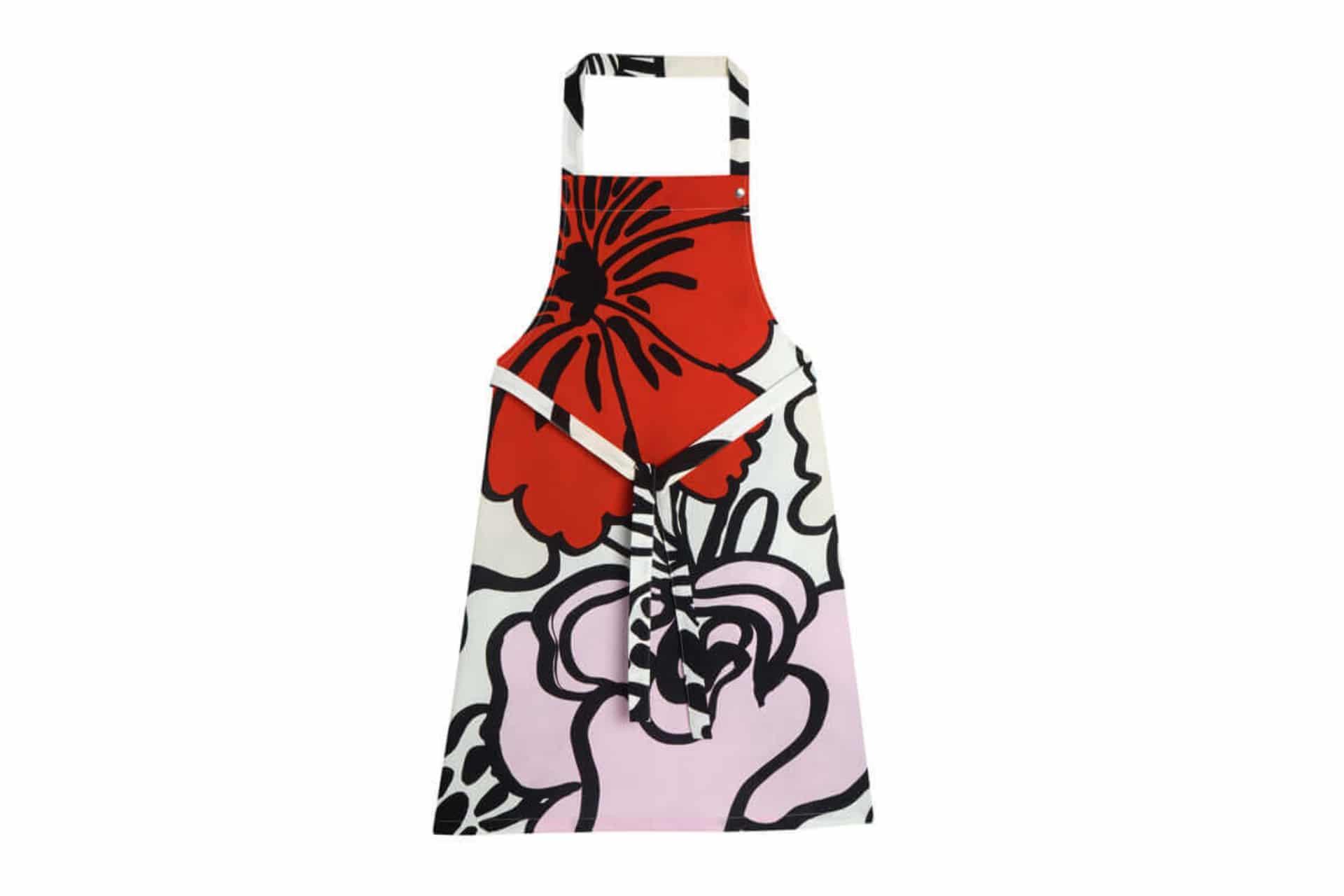 marimekko patterned apron