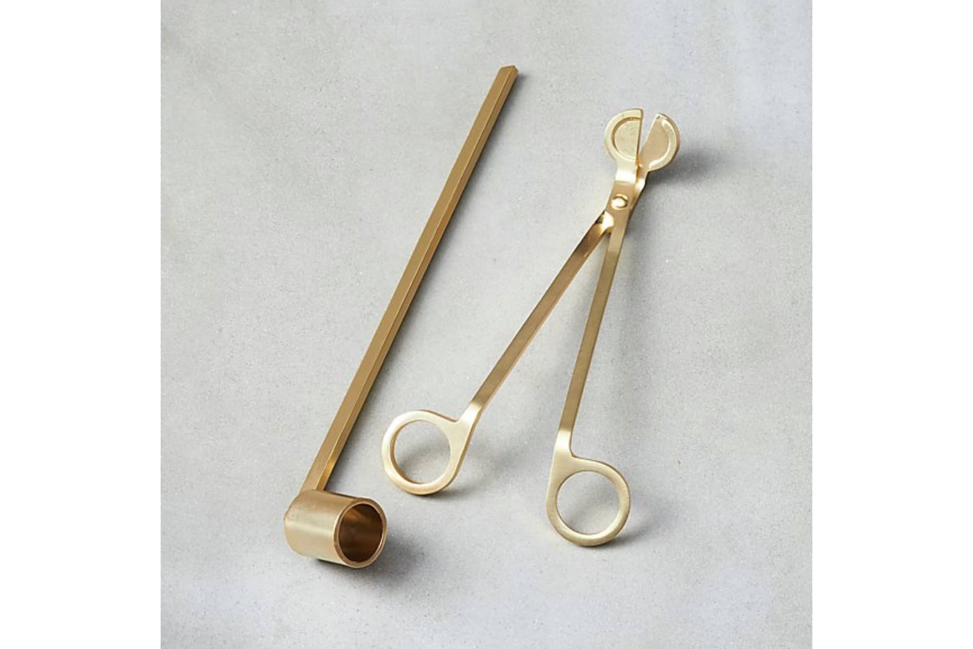 golde candle snuffer and wick trimmer