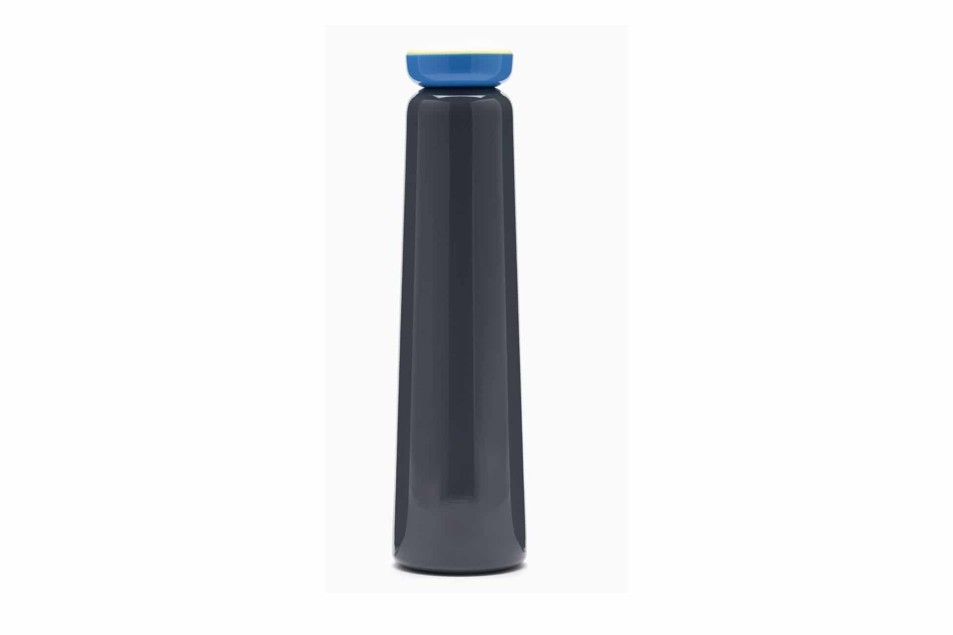 Blue and grey water bottle