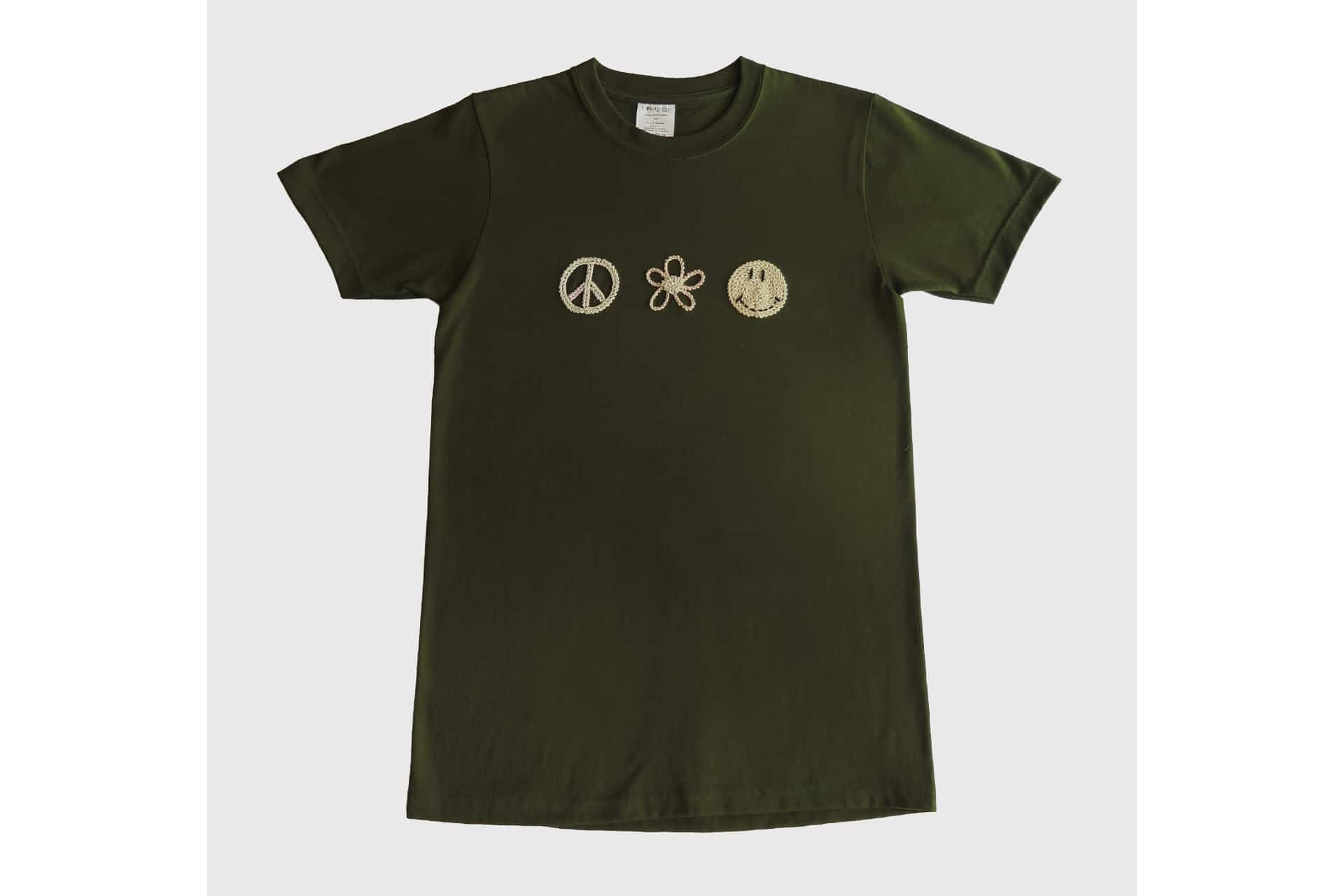 Deadstock Military Tee with In-House Embroidery