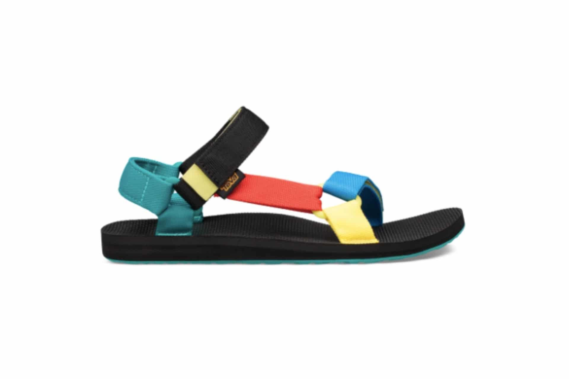multicoloured strappy sandal