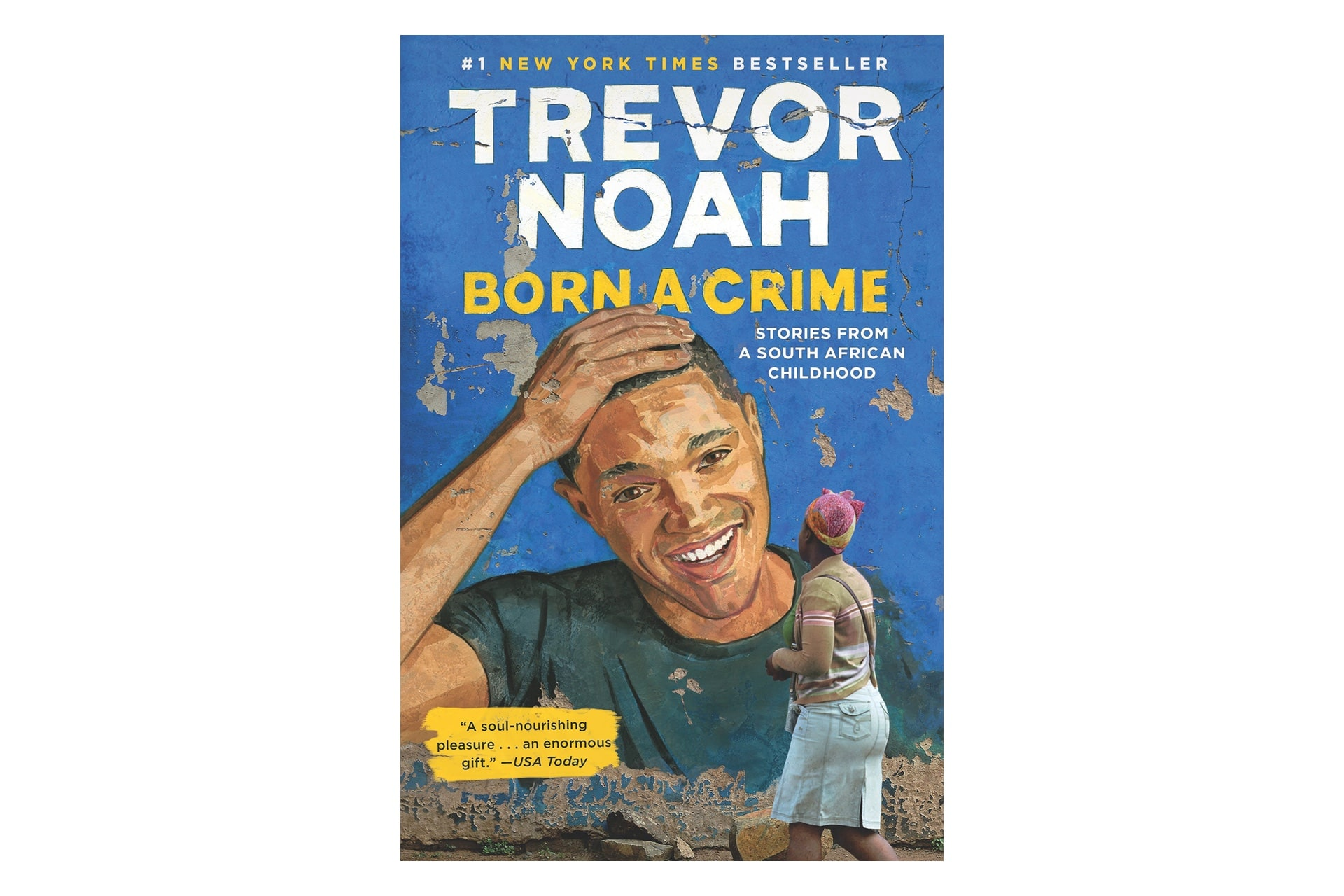 Book cover by Trevor Noah that says