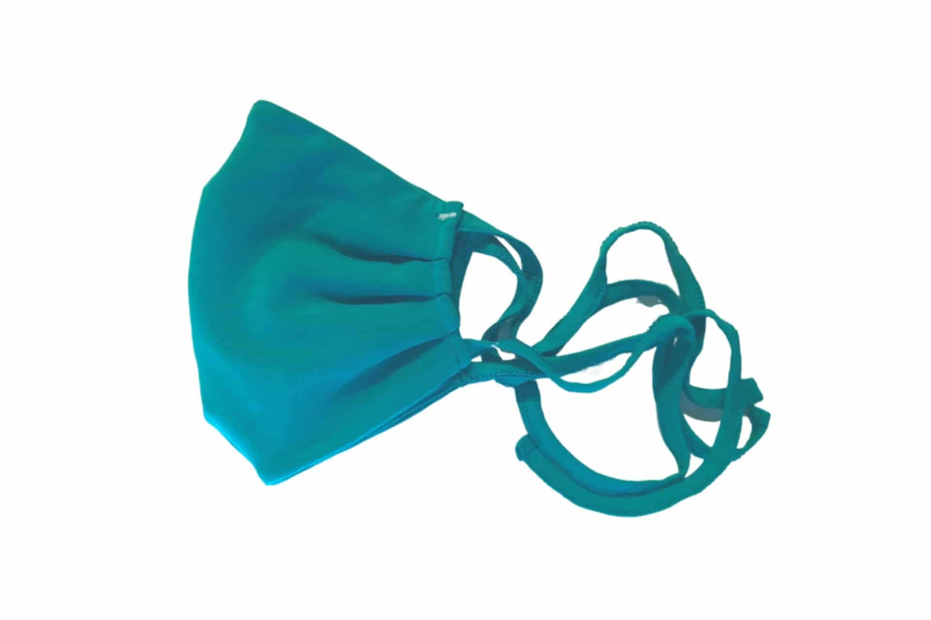 teal cloth face mask