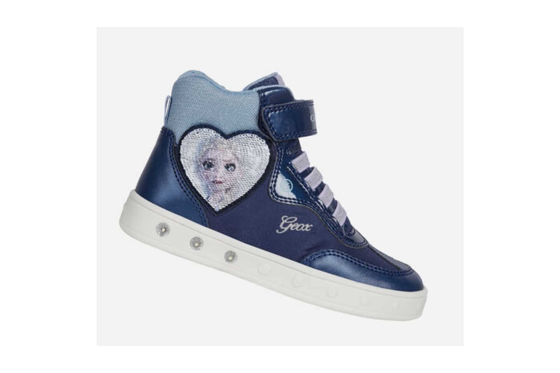 high top sneaker with Elsa from Frozen on a decal