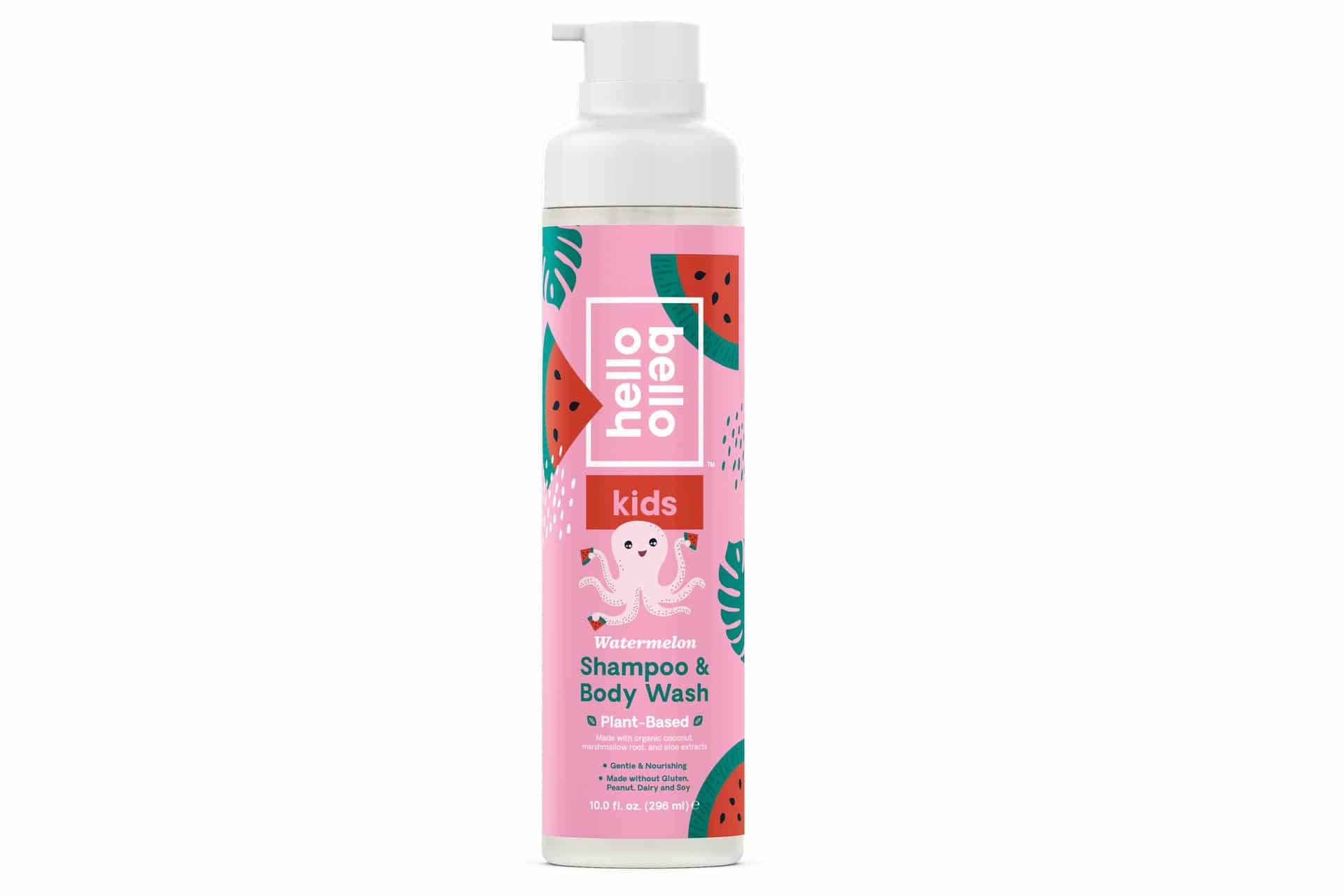 shampoo bottle with watermelon graphics