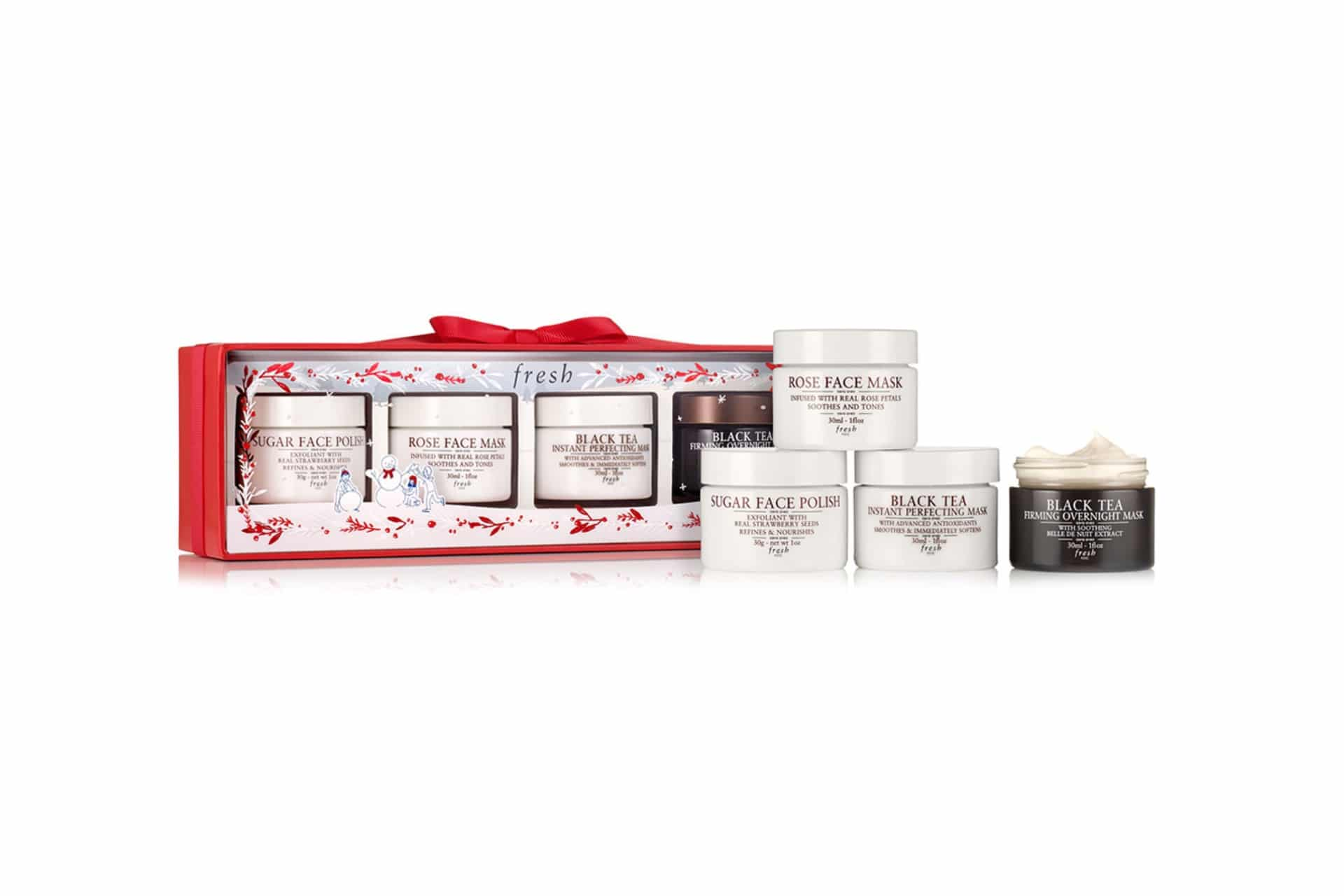 mask set from Fresh with four pots with different skincare masks