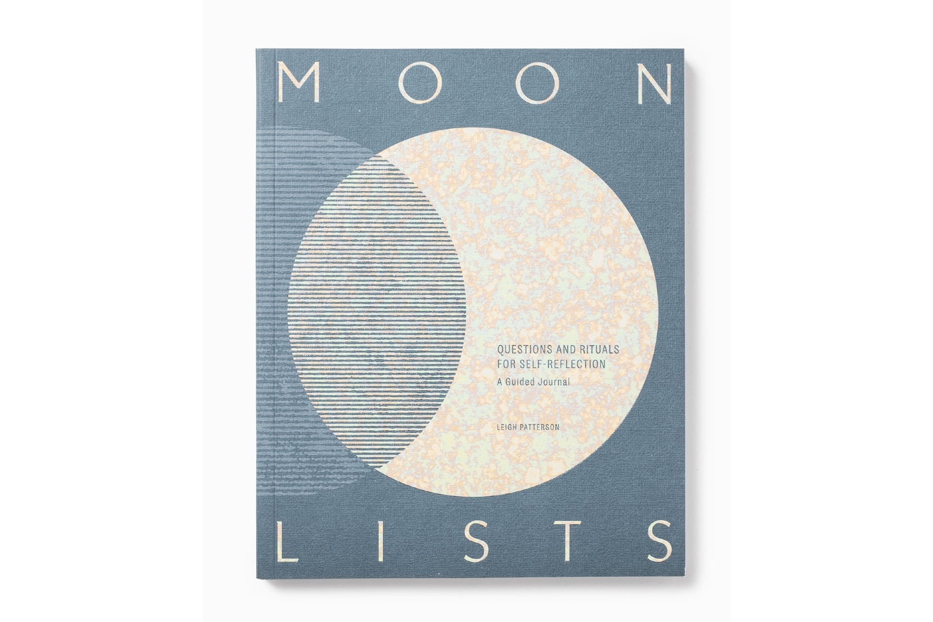 journal with an illo of the moon that's called Moon Lists