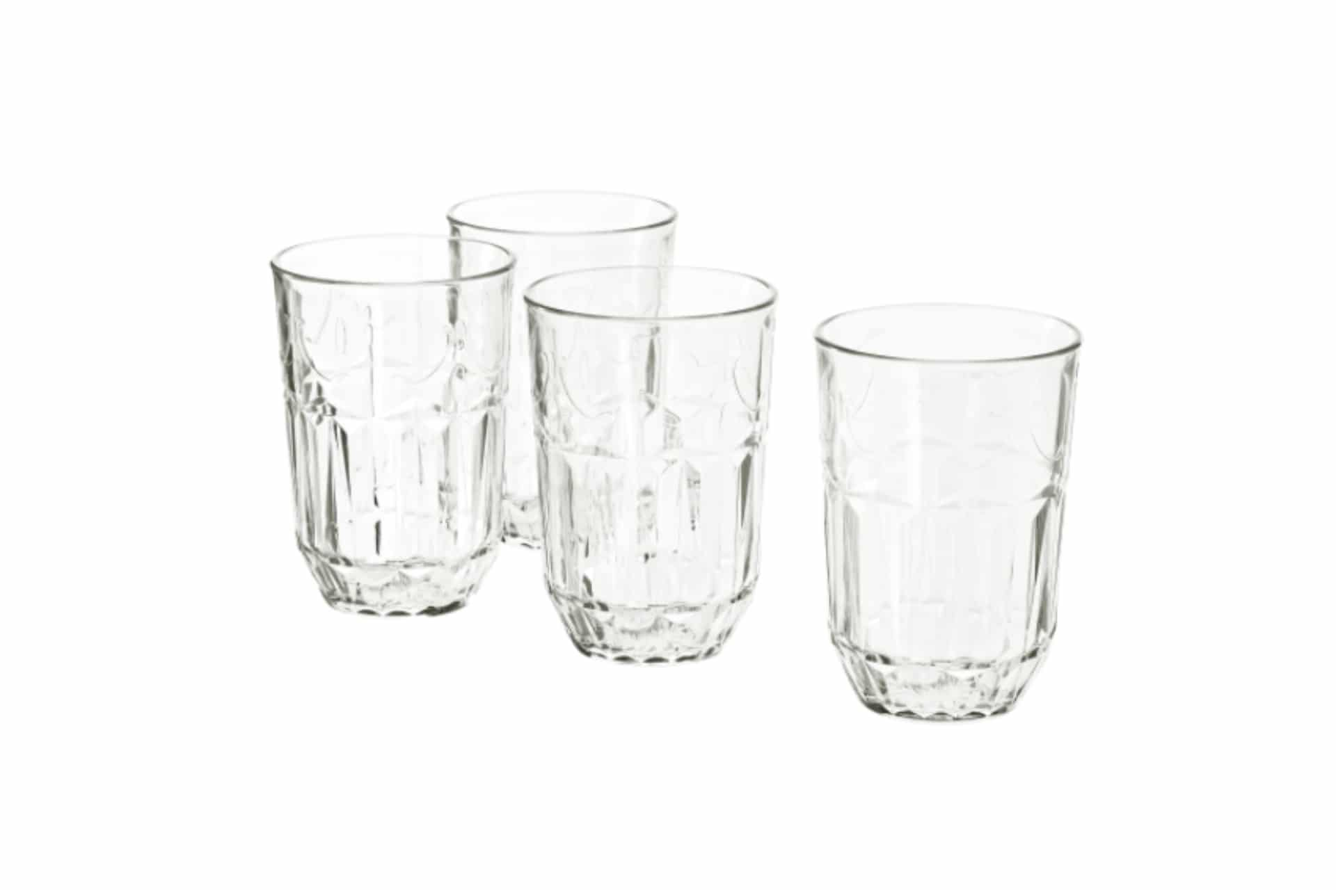 ornate glasses on a white background