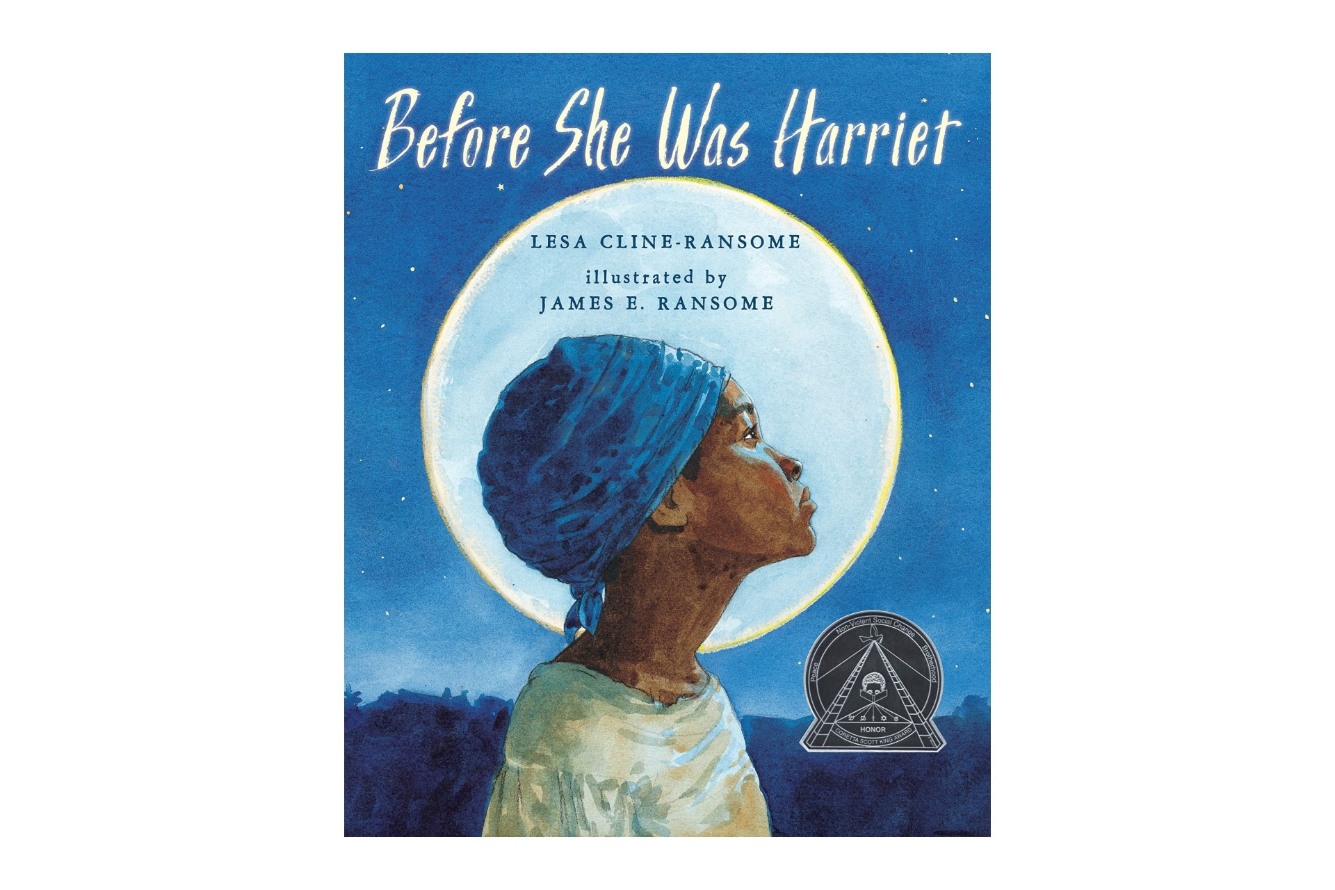 Book cover of Harriet Tubman that say's Before she was harriet