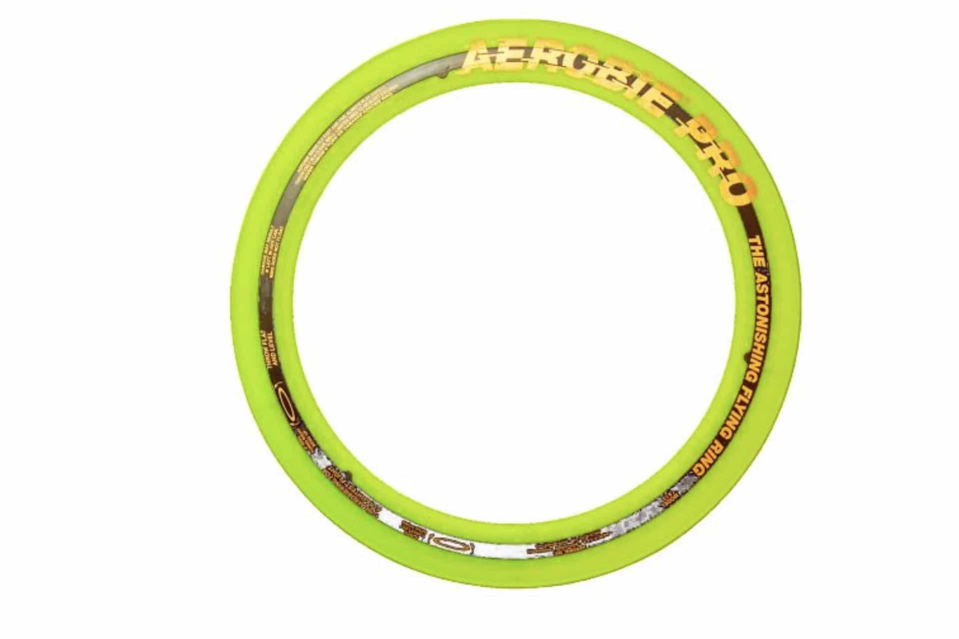 Neon yellow ring frisbee