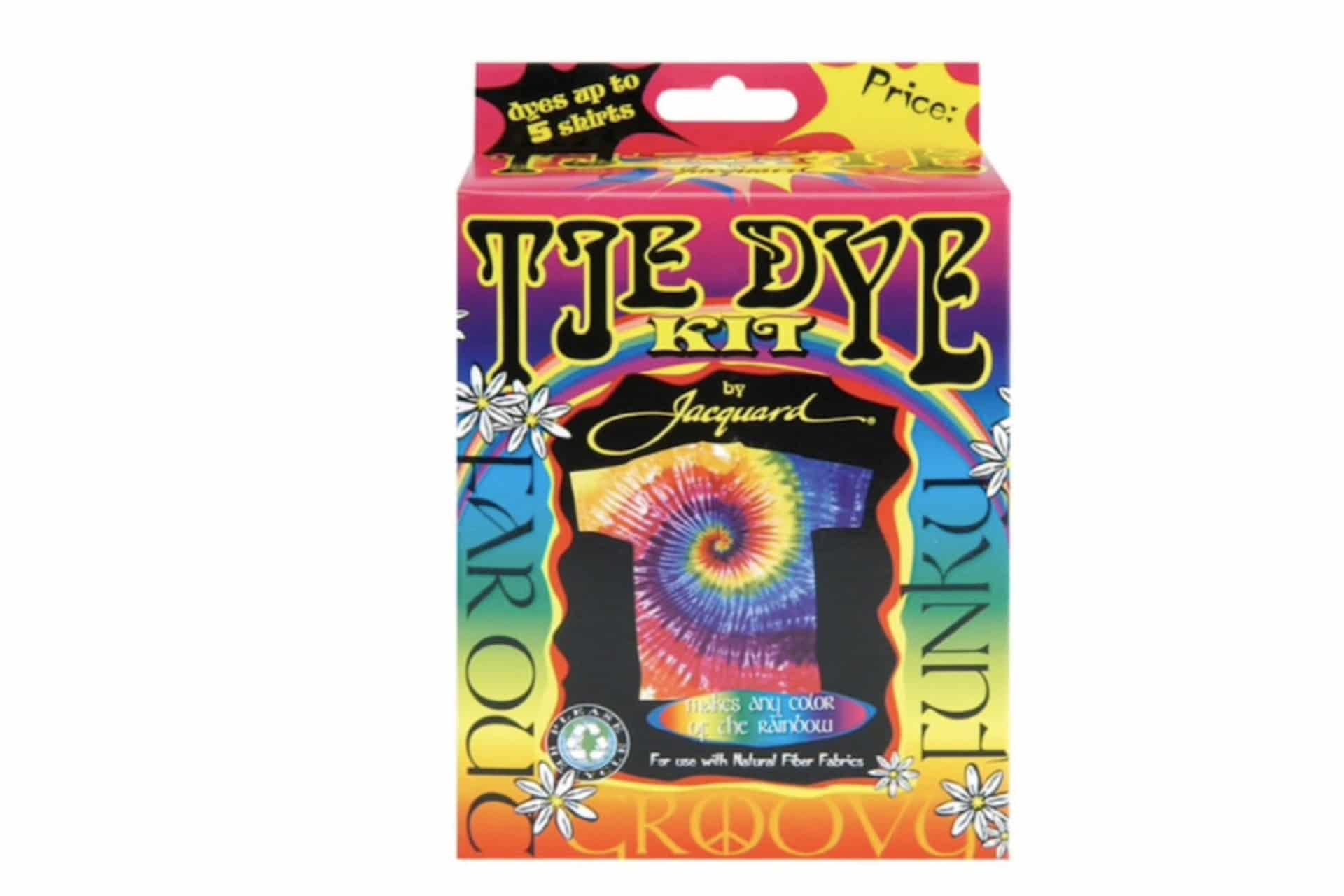 Colourful tye-dye kit