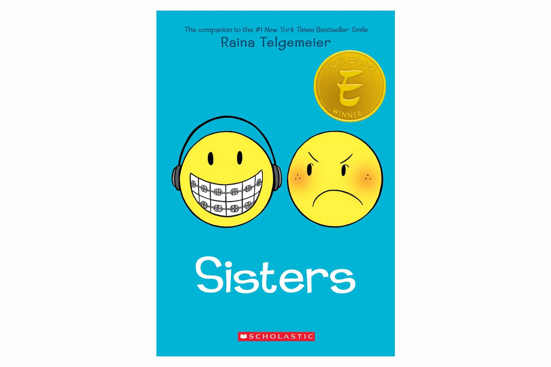 blue book cover with two smiley faces depicting different emotions