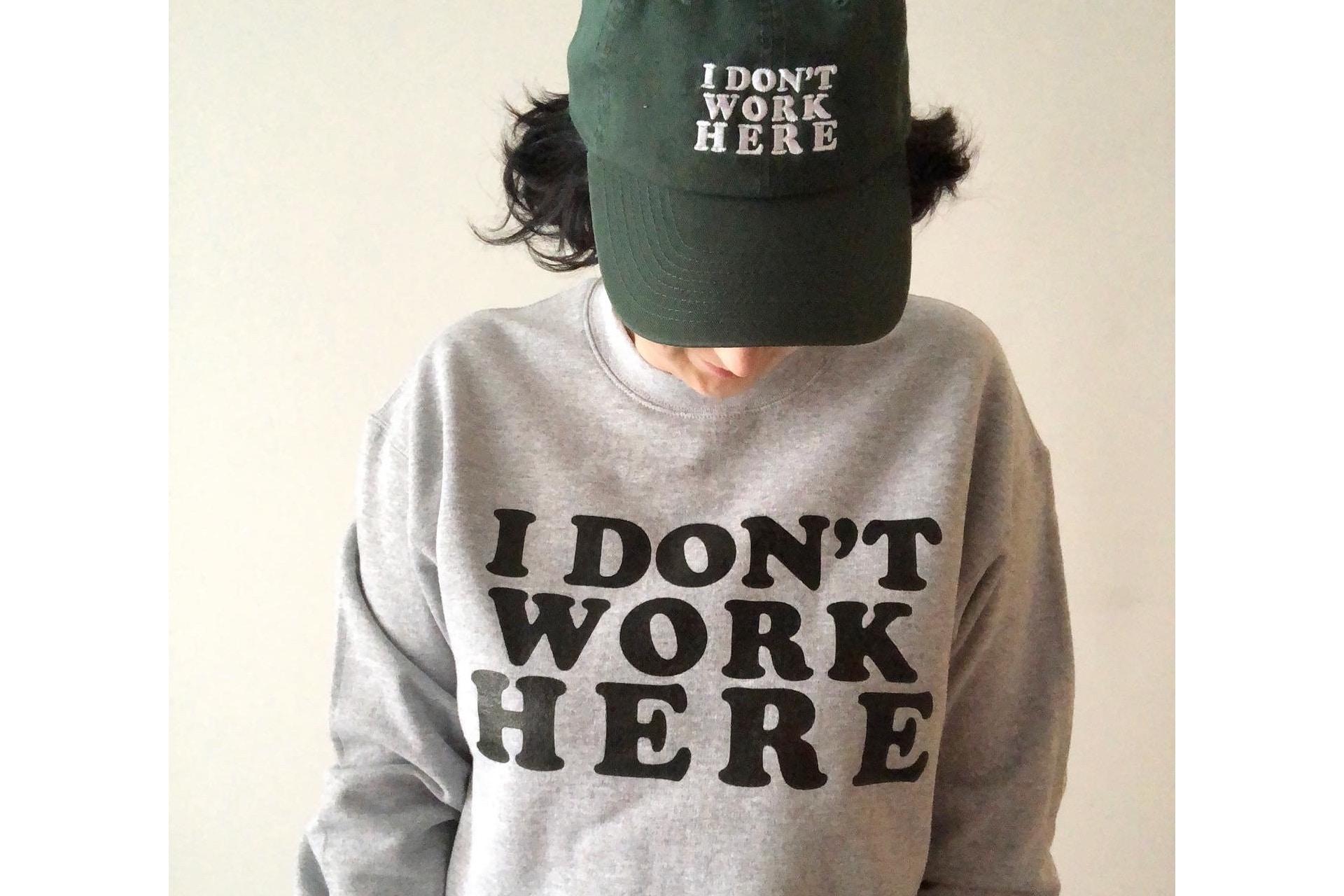 grey sweatshirt that says