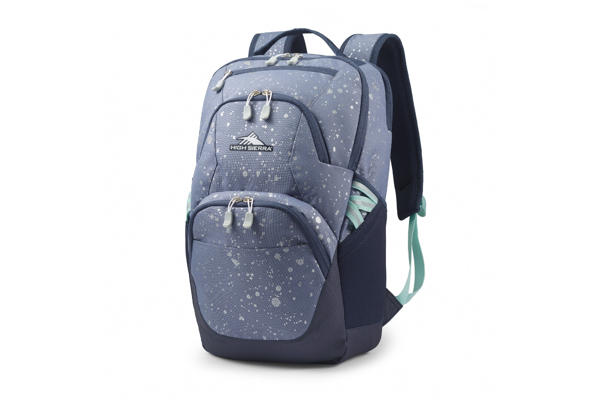 backpack with grey spots