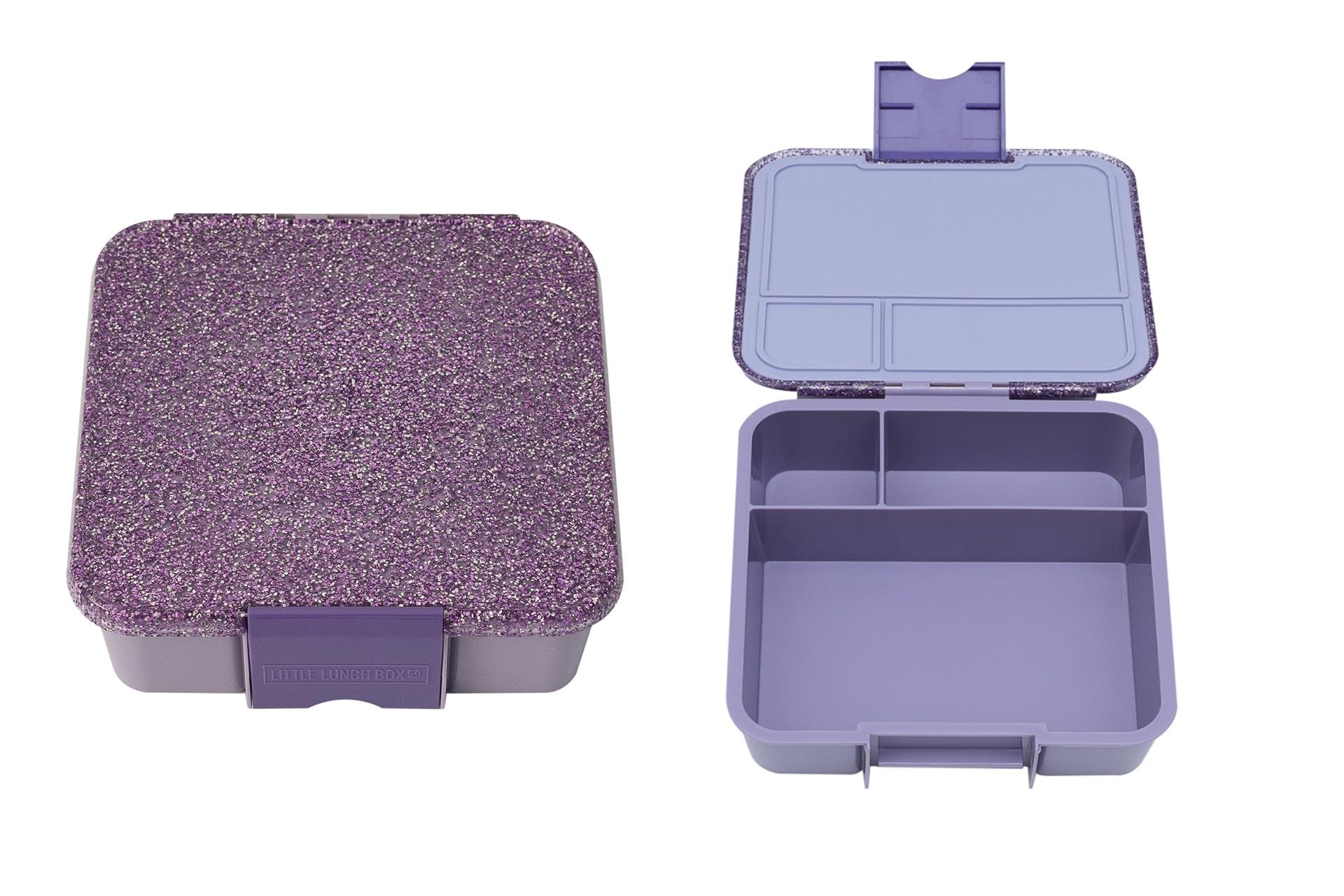 purple sparkly lunch box
